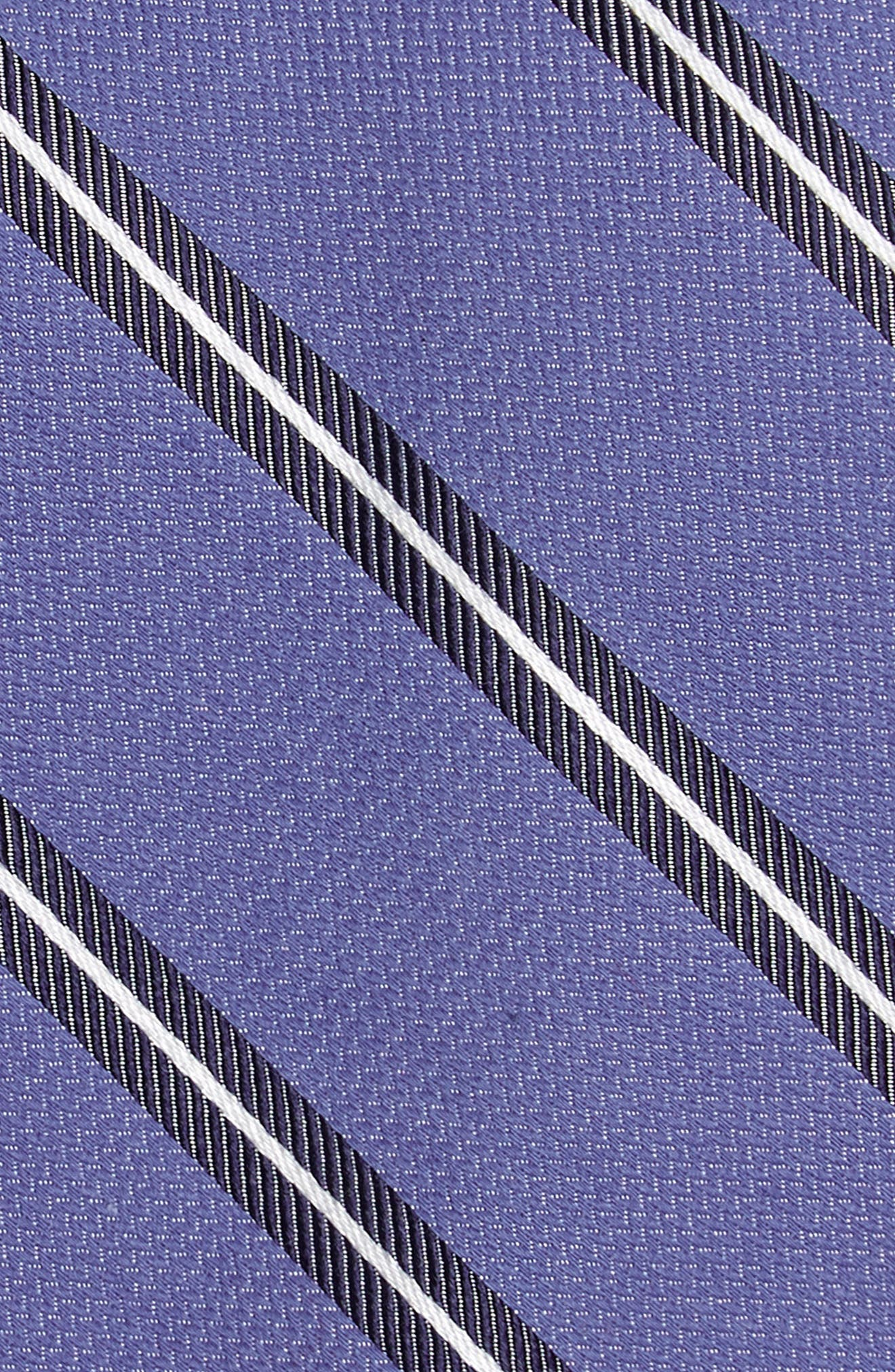 Edinger Stripe Silk & Cotton Tie,                             Alternate thumbnail 2, color,                             Blue