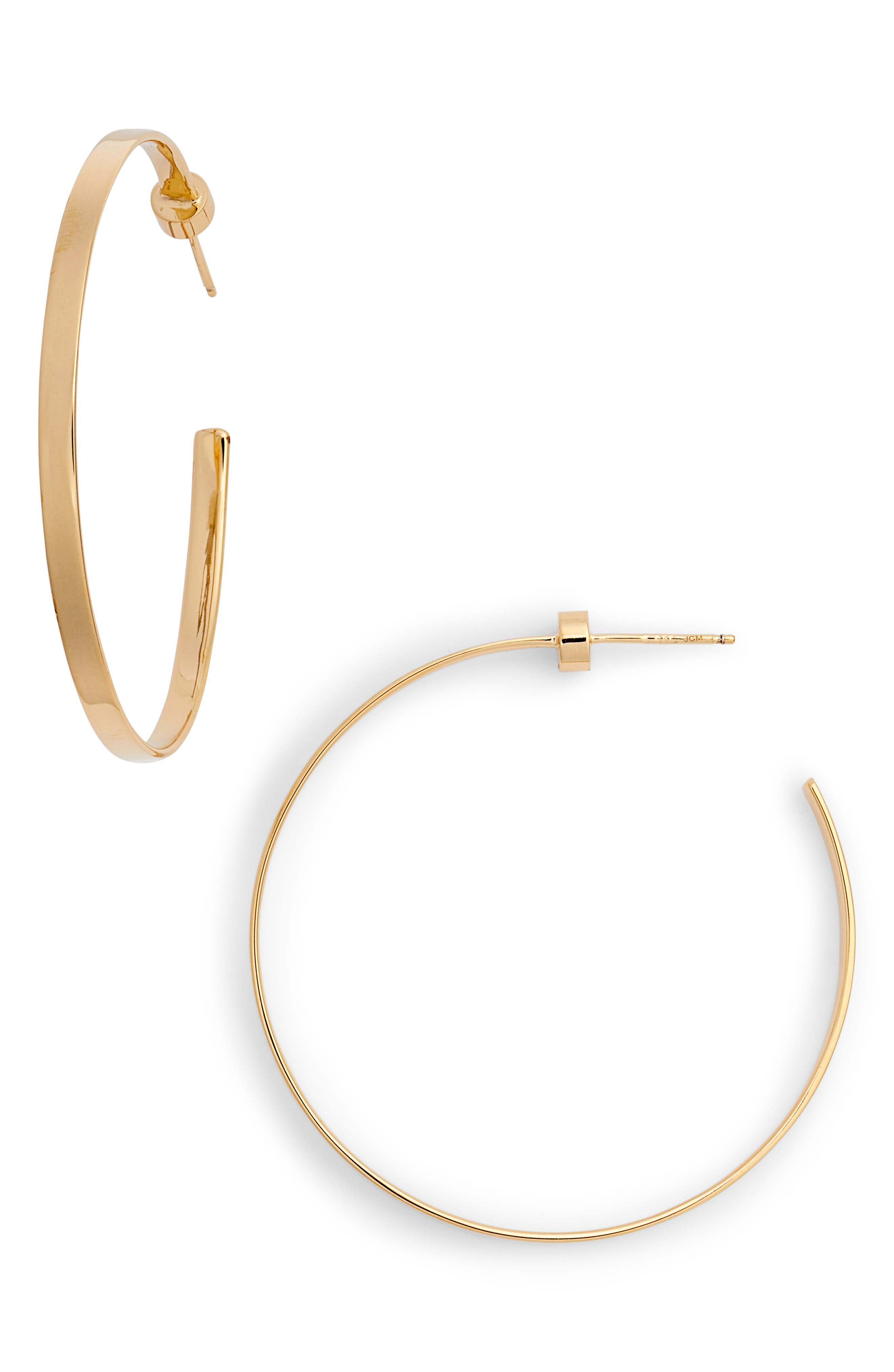 Kiara Hoop Earrings,                         Main,                         color, Yellow Vermeil