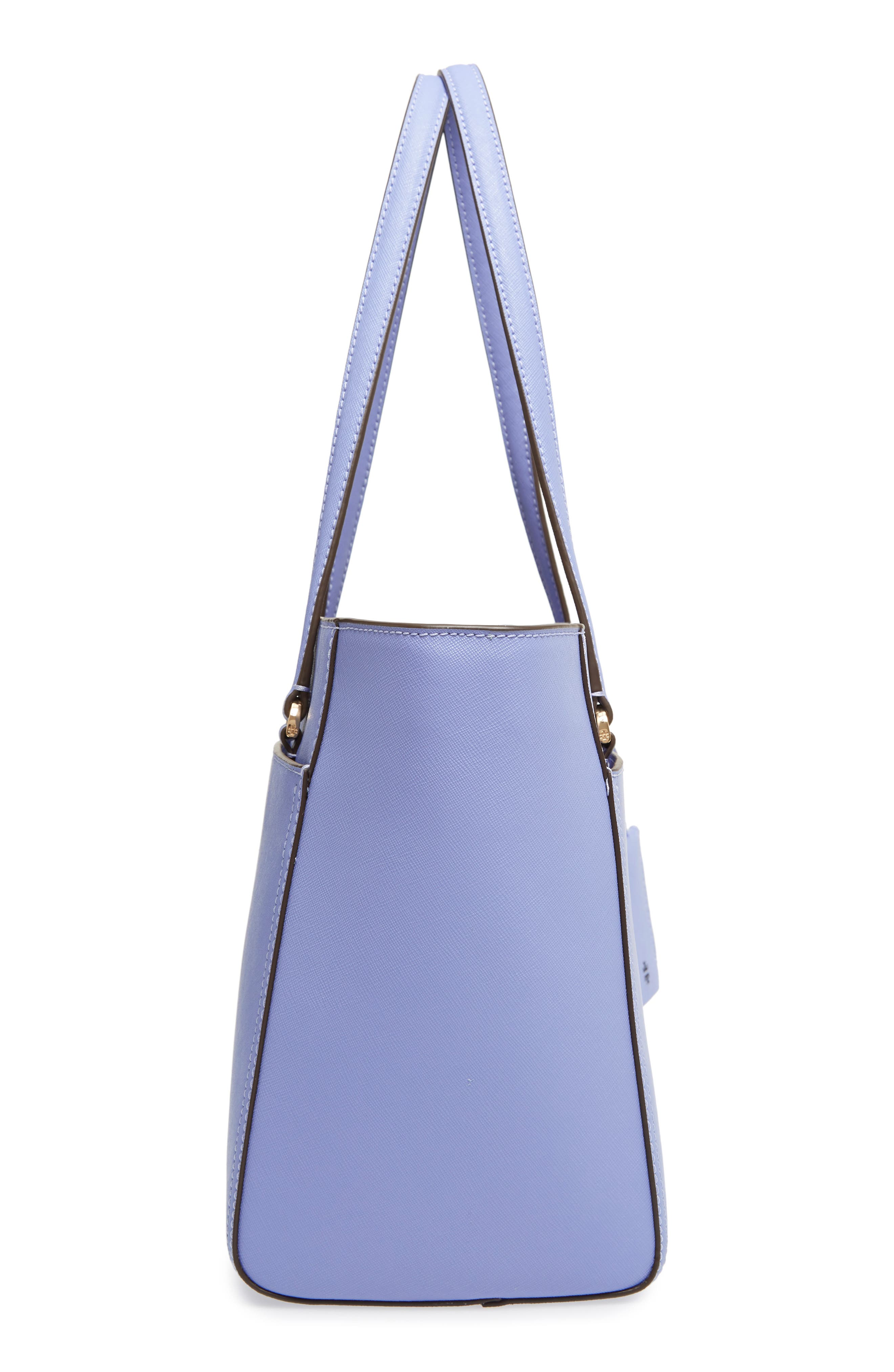 Small Robinson Leather Tote,                             Alternate thumbnail 5, color,                             Bow Blue