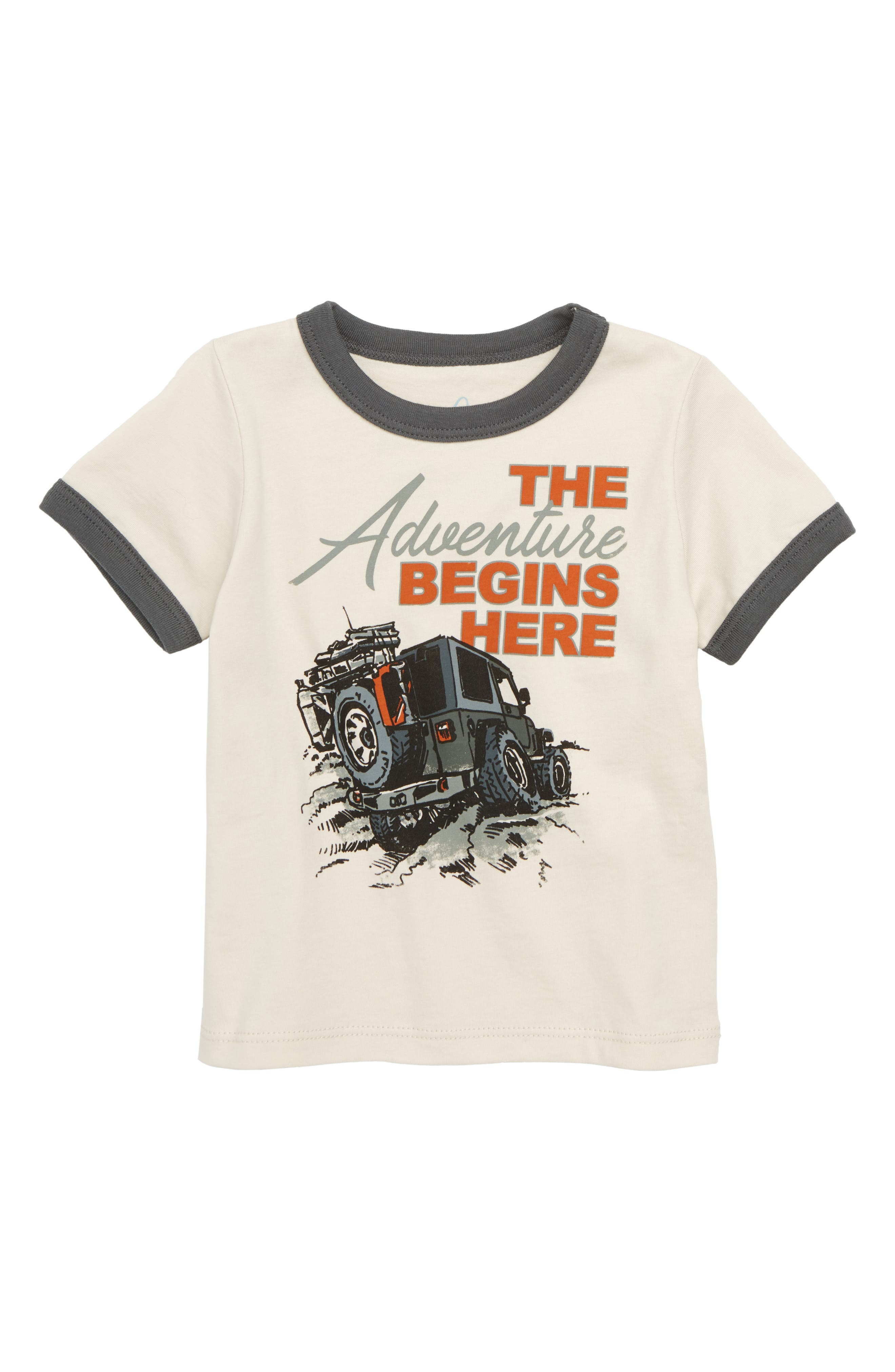 The Adventure Begins Here Graphic T-Shirt,                         Main,                         color, Khaki