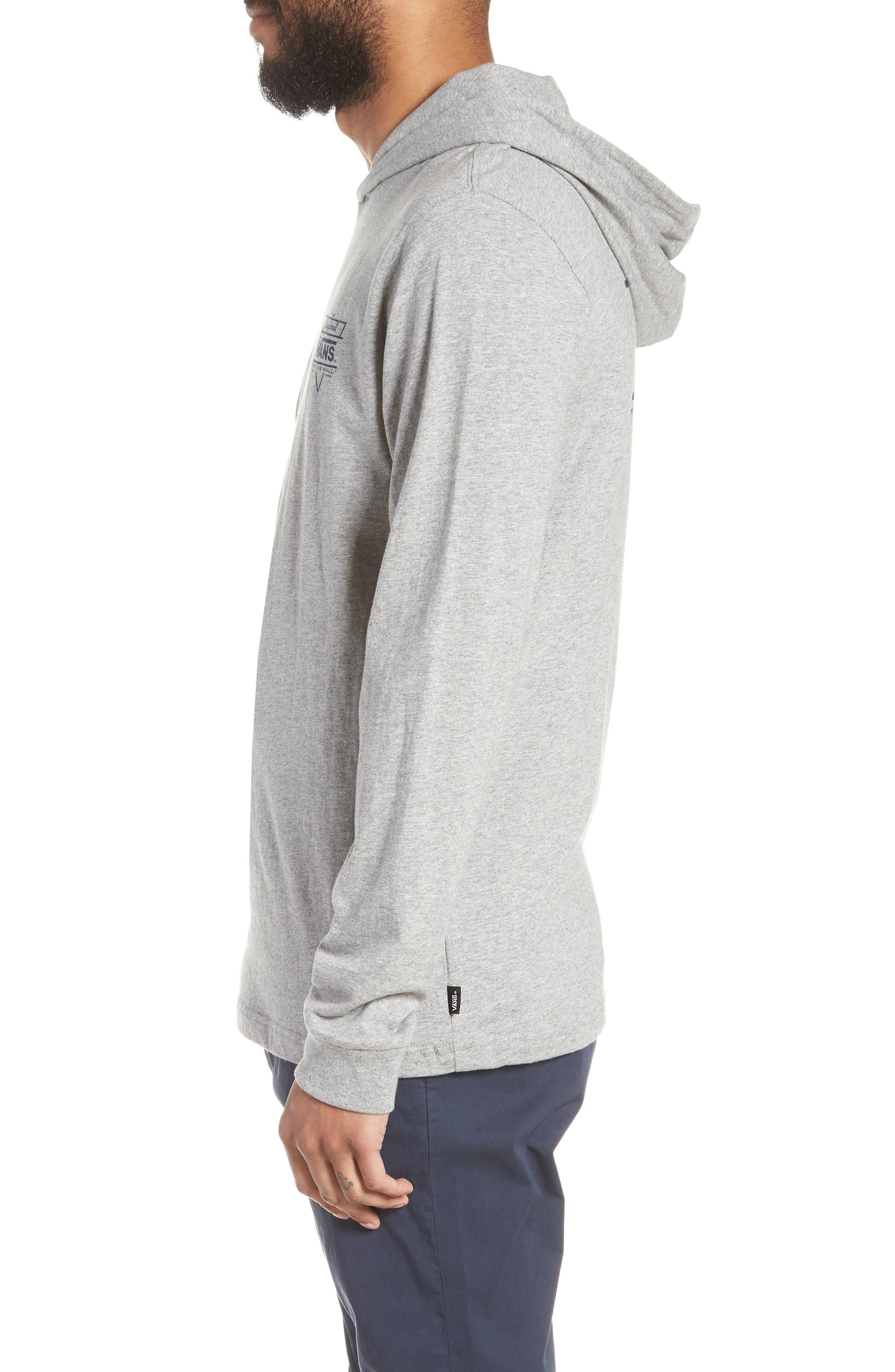 Van Doren Hooded T-Shirt,                             Alternate thumbnail 3, color,                             Cement Heather/ Dress Blues