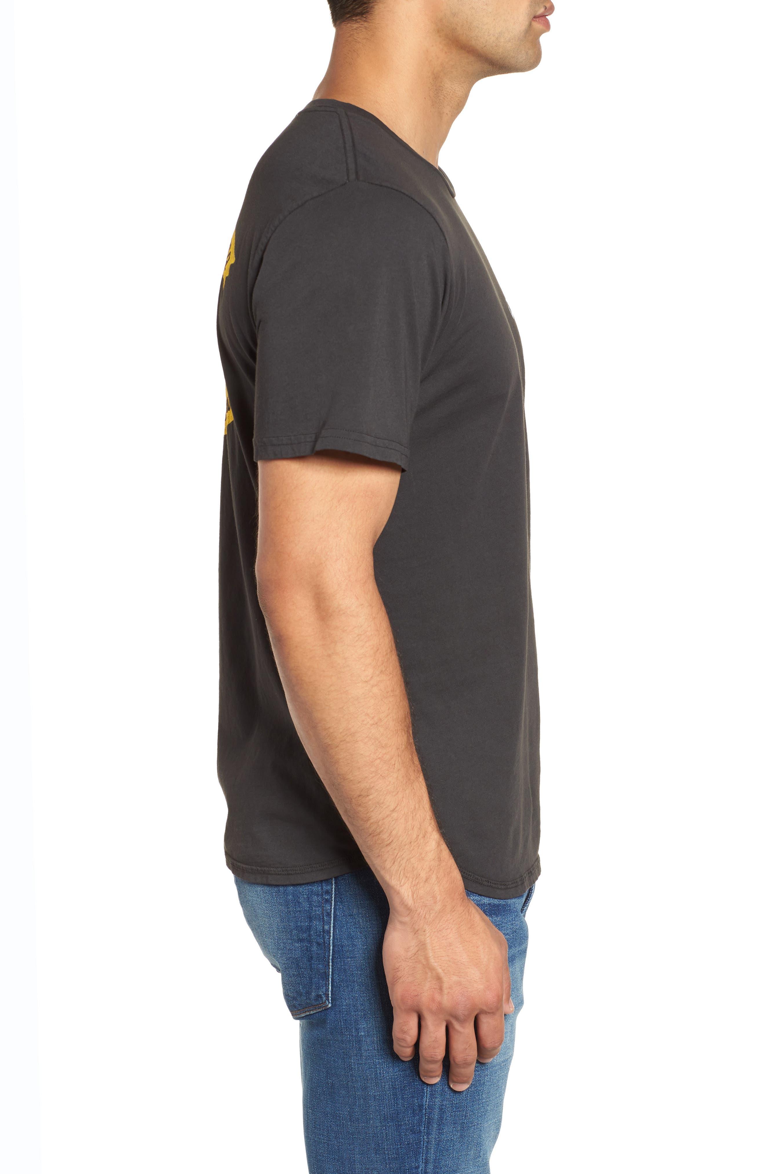Only the Good Crewneck T-Shirt,                             Alternate thumbnail 3, color,                             Dusty Black