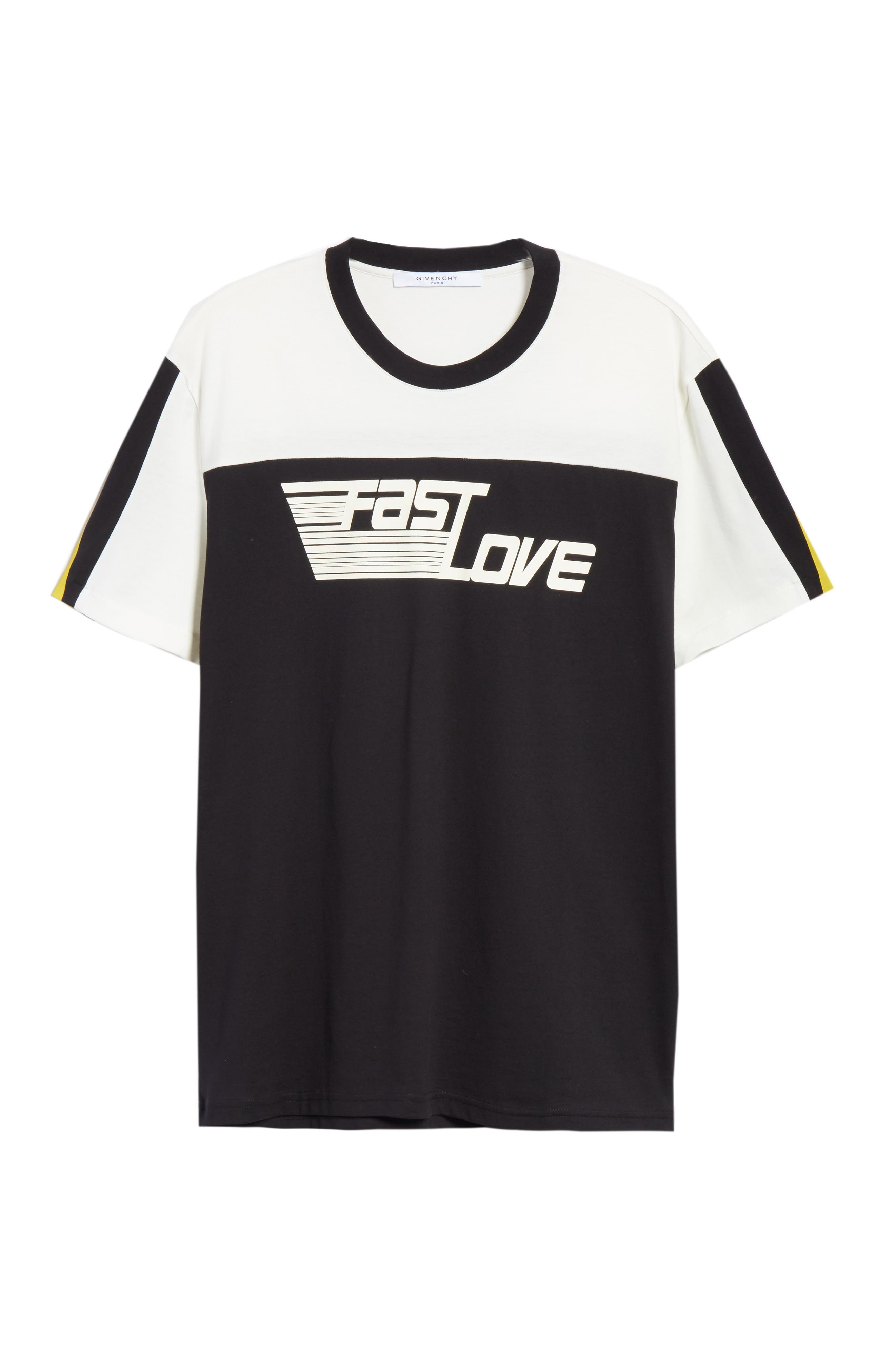 Fast Love Graphic T-Shirt,                             Alternate thumbnail 6, color,                             Black/ Beige