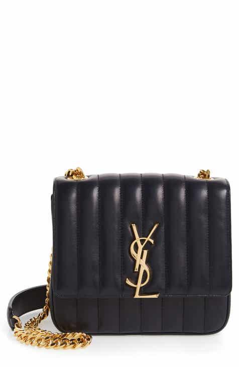 3e1b12a6fa7 Saint Laurent Medium Vicky Leather Crossbody Bag