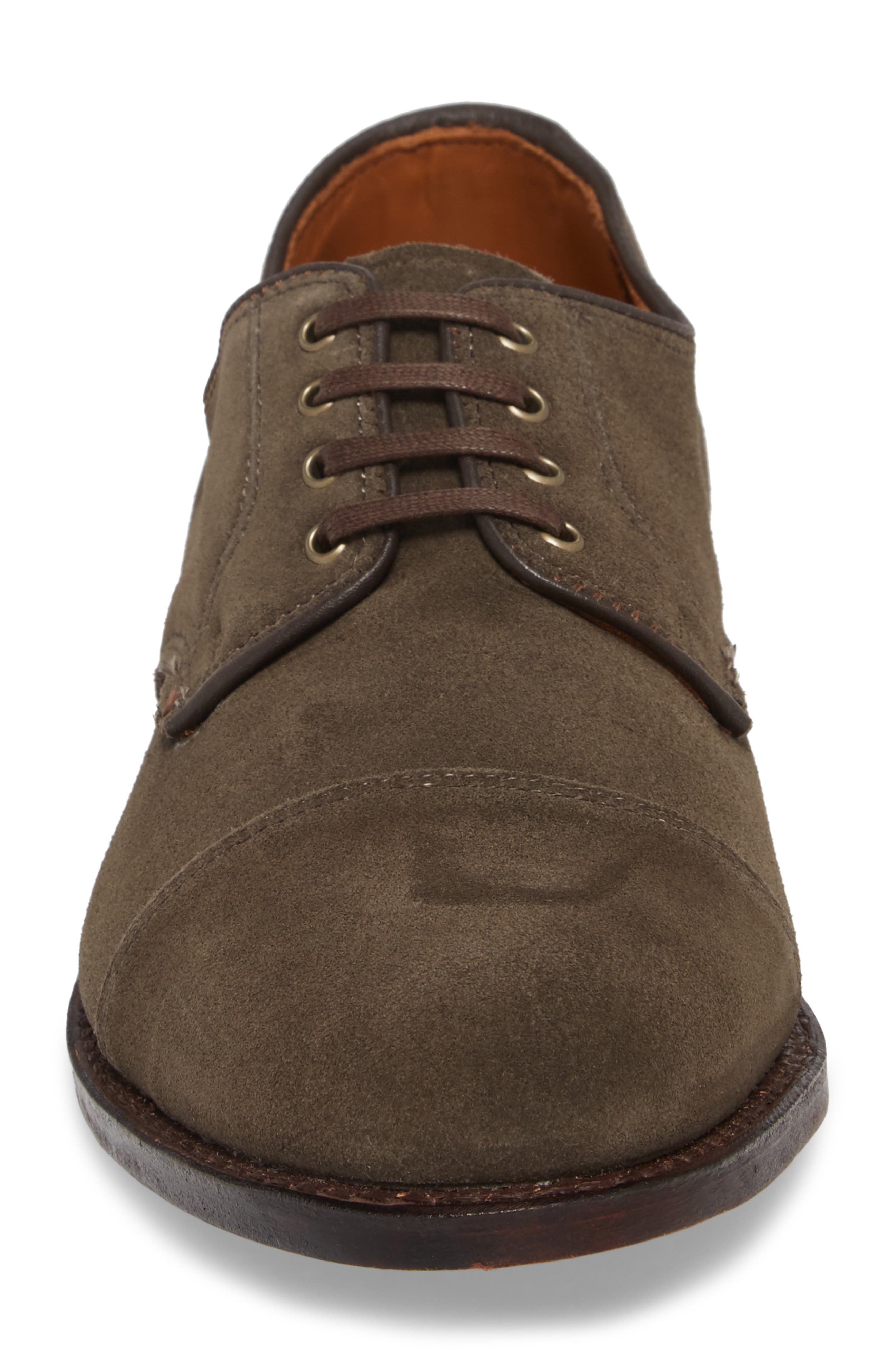Barrett Cap Toe Derby,                             Alternate thumbnail 4, color,                             Slate Leather