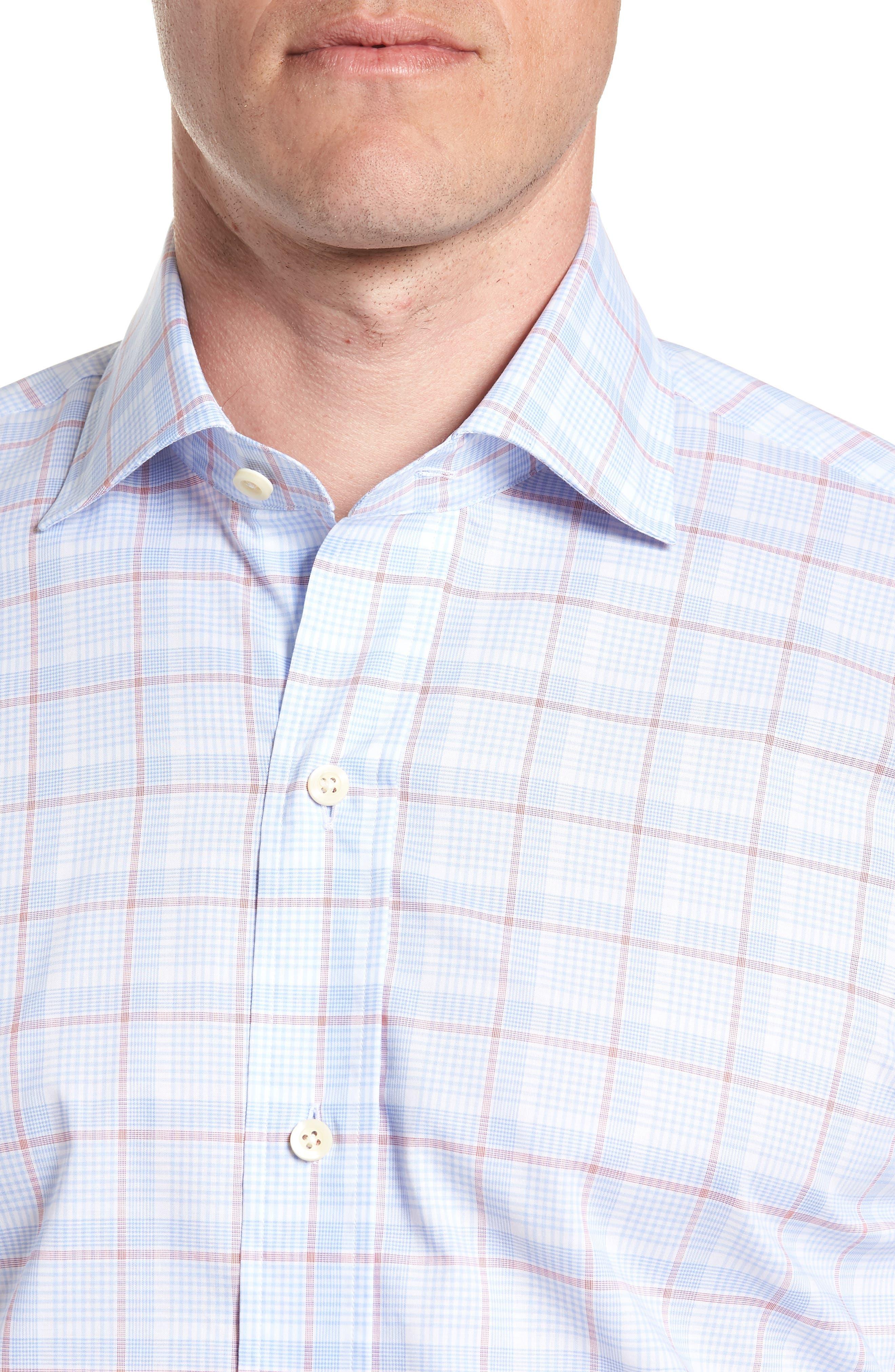 Conwell Slim Fit Plaid Dress Shirt,                             Alternate thumbnail 2, color,                             Blue