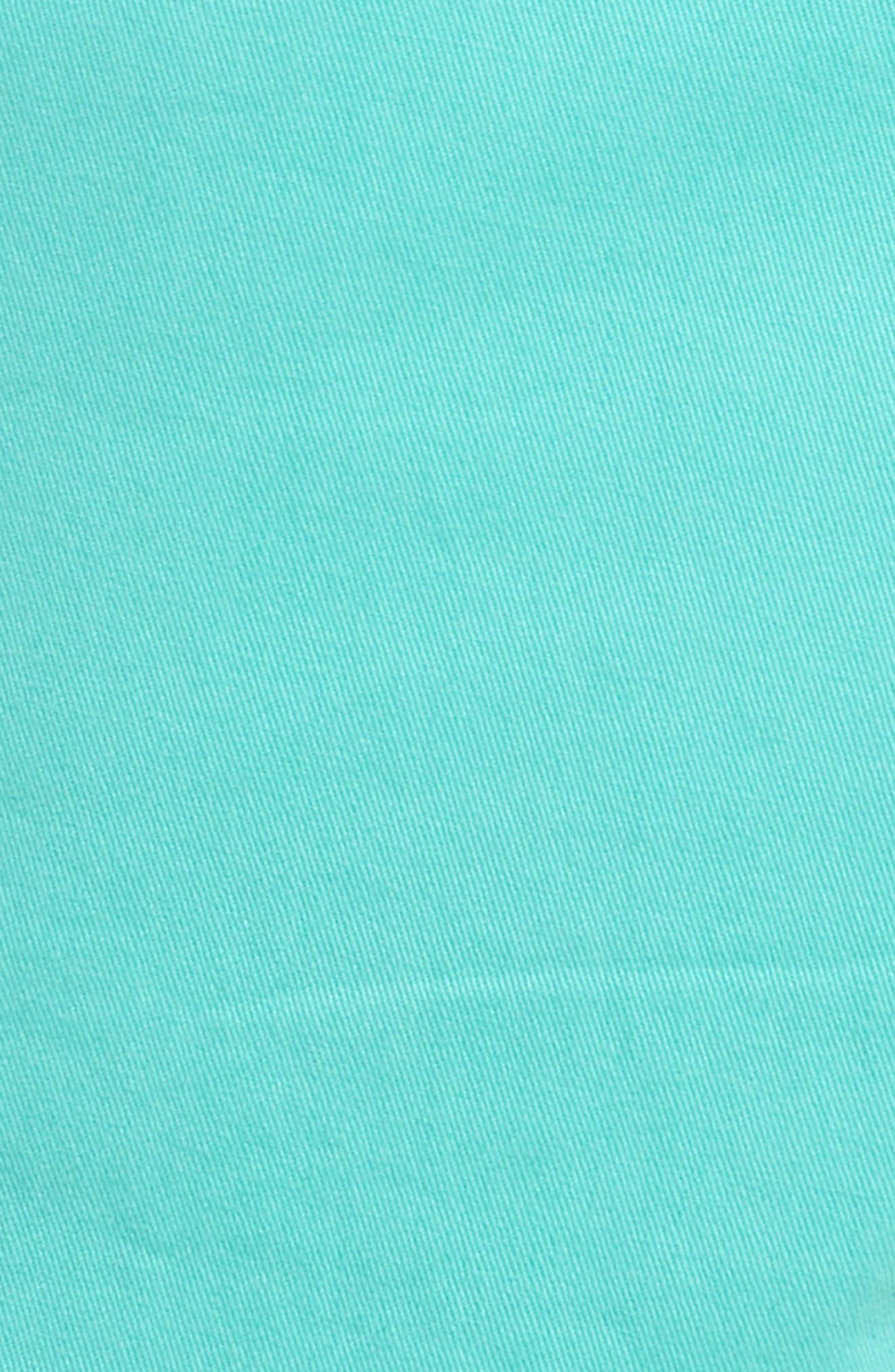 Ballard Slim Fit Stretch Chino 9-Inch Shorts,                             Alternate thumbnail 5, color,                             Green Largo