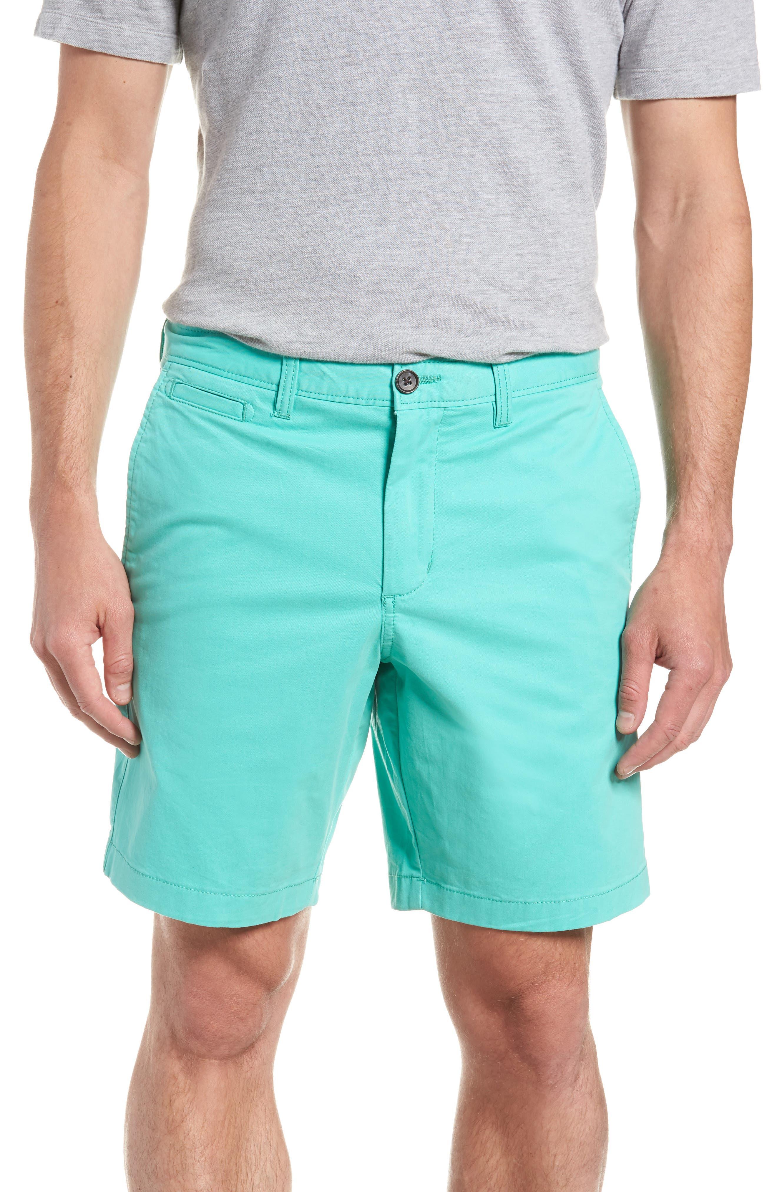 Ballard Slim Fit Stretch Chino 9-Inch Shorts,                         Main,                         color, Green Largo