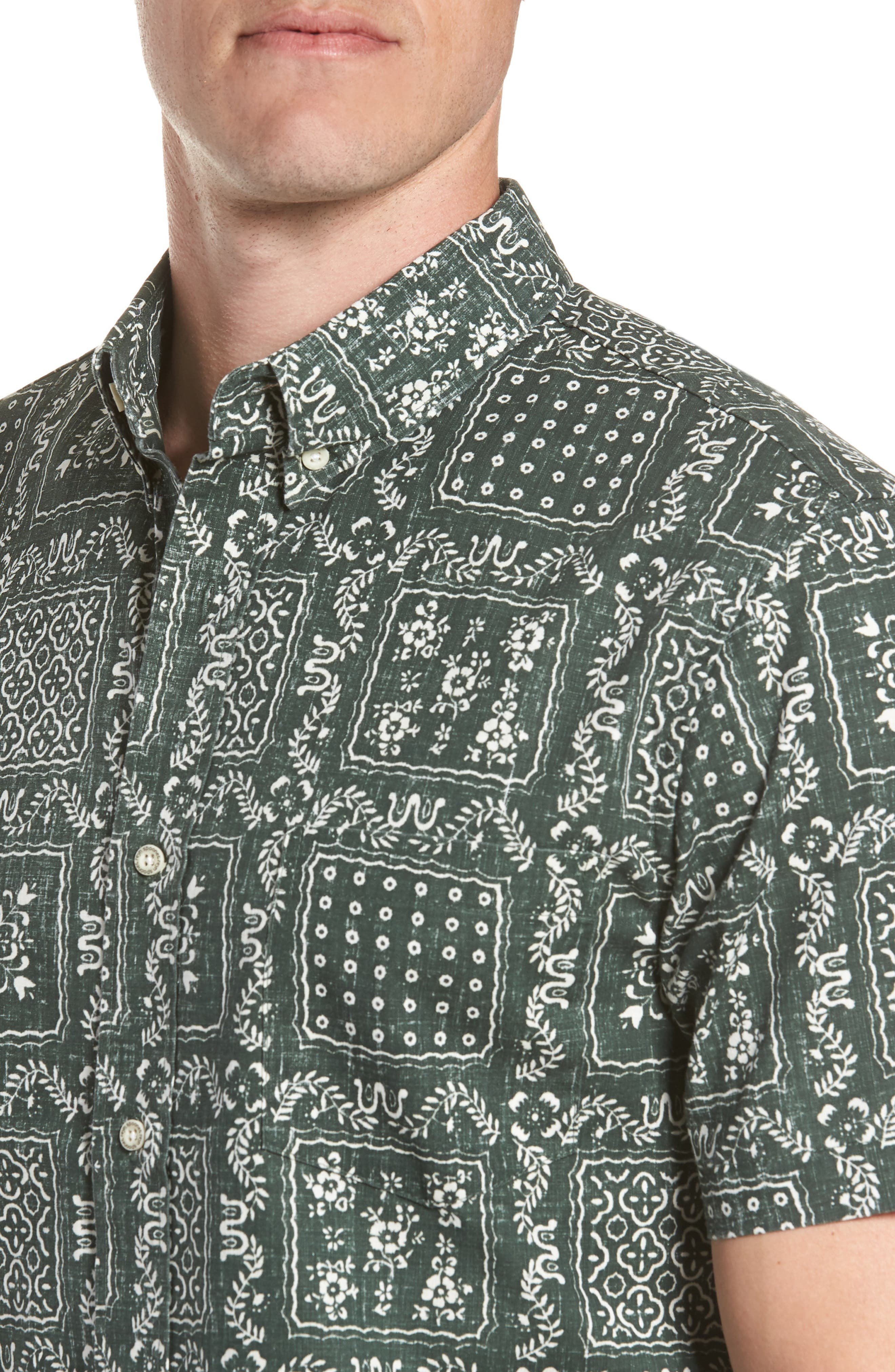 Alternate Image 2  - Reyn Spooner Lahaina Sailor Tailored Fit Sport Shirt