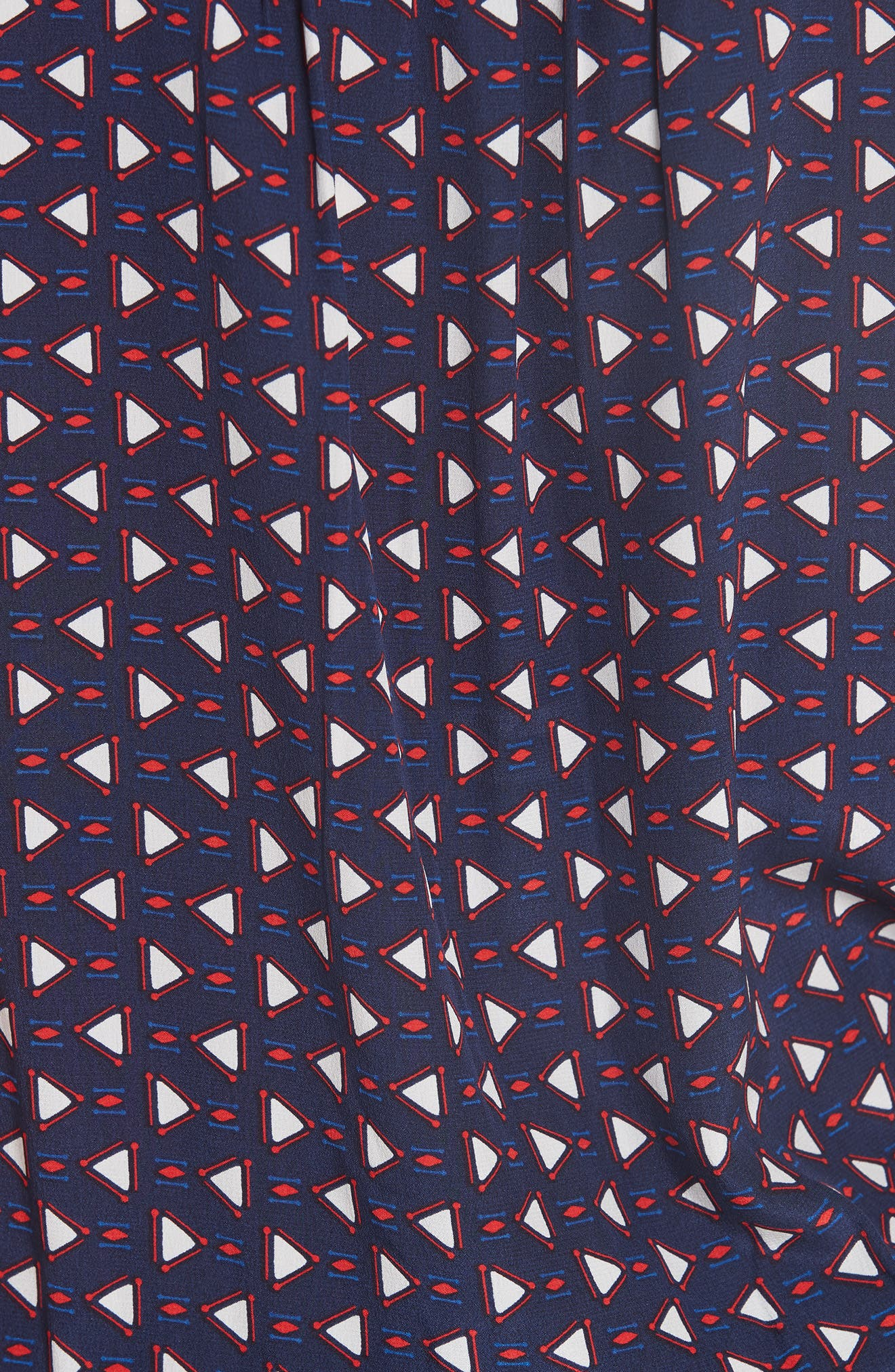 Ginabel Silk Handkerchief Dress,                             Alternate thumbnail 5, color,                             Dark Navy