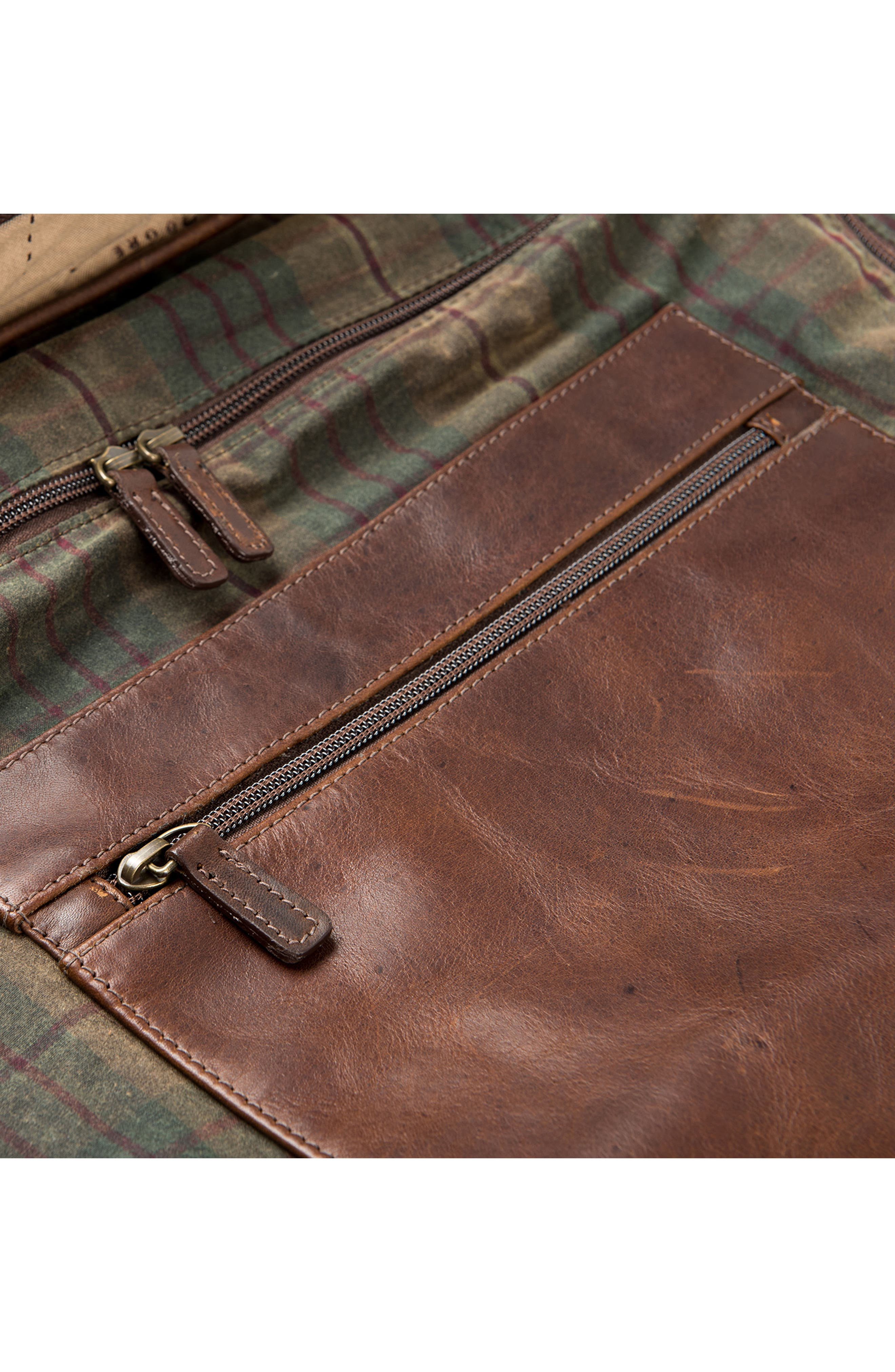 Tinsley Trifold Garment Bag,                             Alternate thumbnail 7, color,                             Baldwin Oak