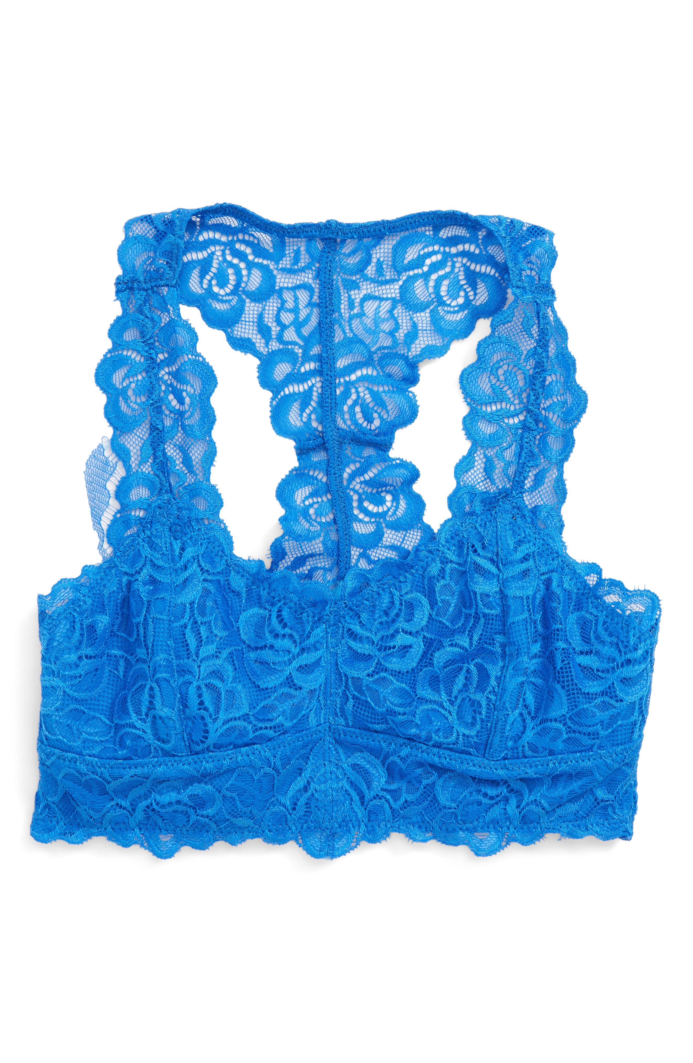 Lace Bralette,                             Main thumbnail 1, color,                             Blue Palace