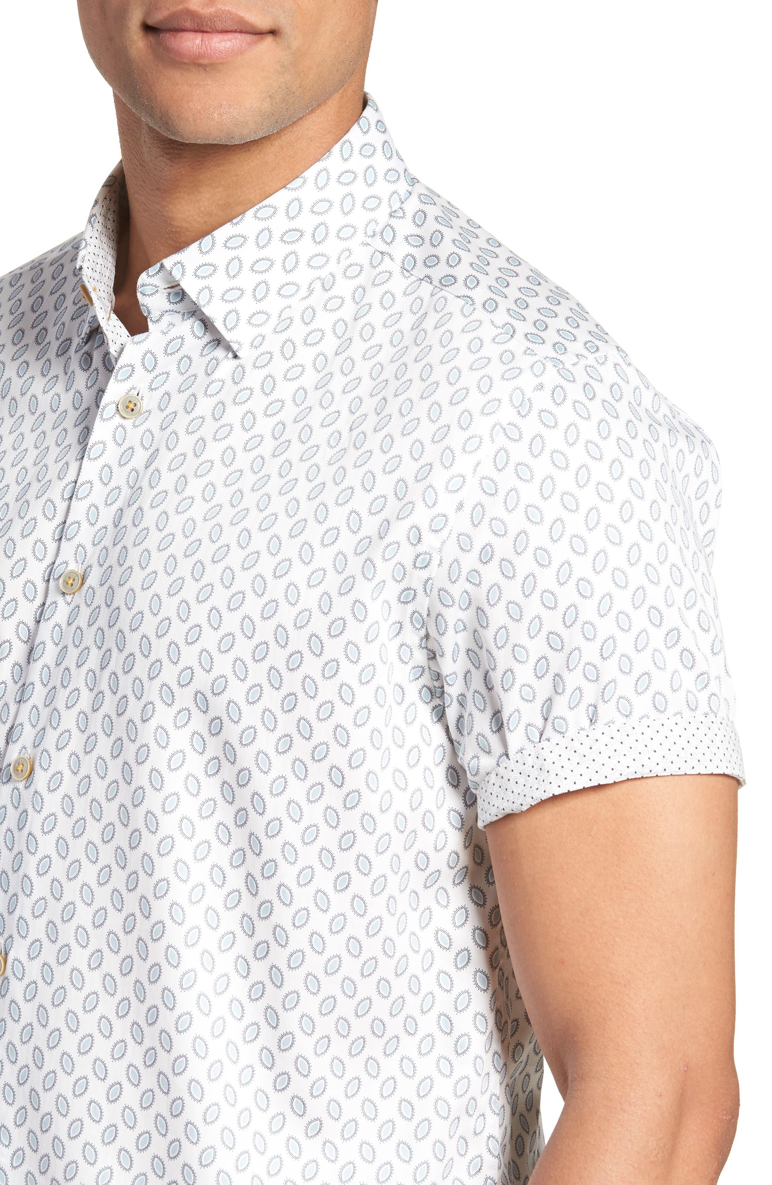 Newfone Trim Fit Chambray Sport Shirt,                             Alternate thumbnail 2, color,                             White