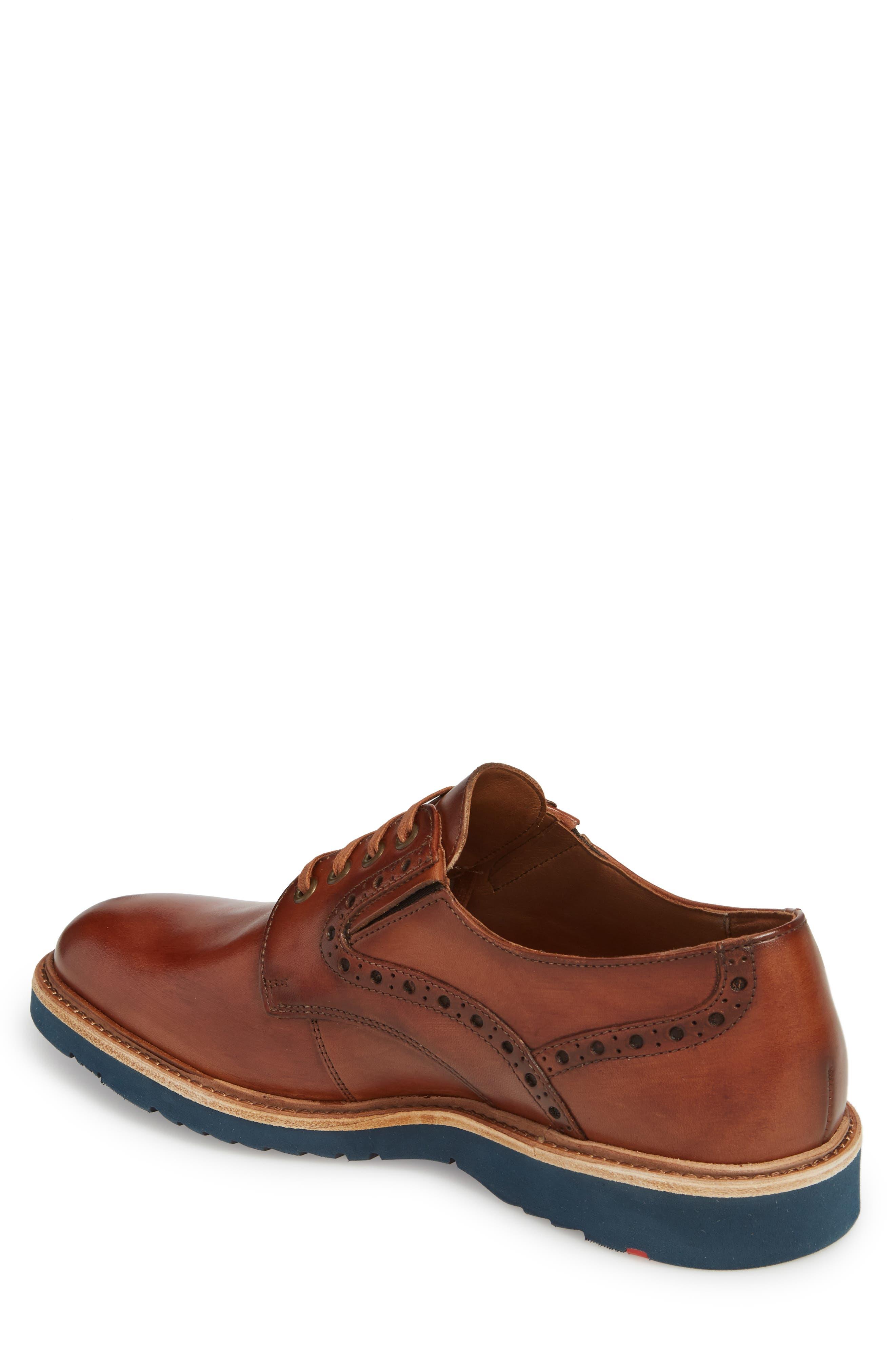 Kandy Plain Toe Derby,                             Alternate thumbnail 2, color,                             Cognac Leather