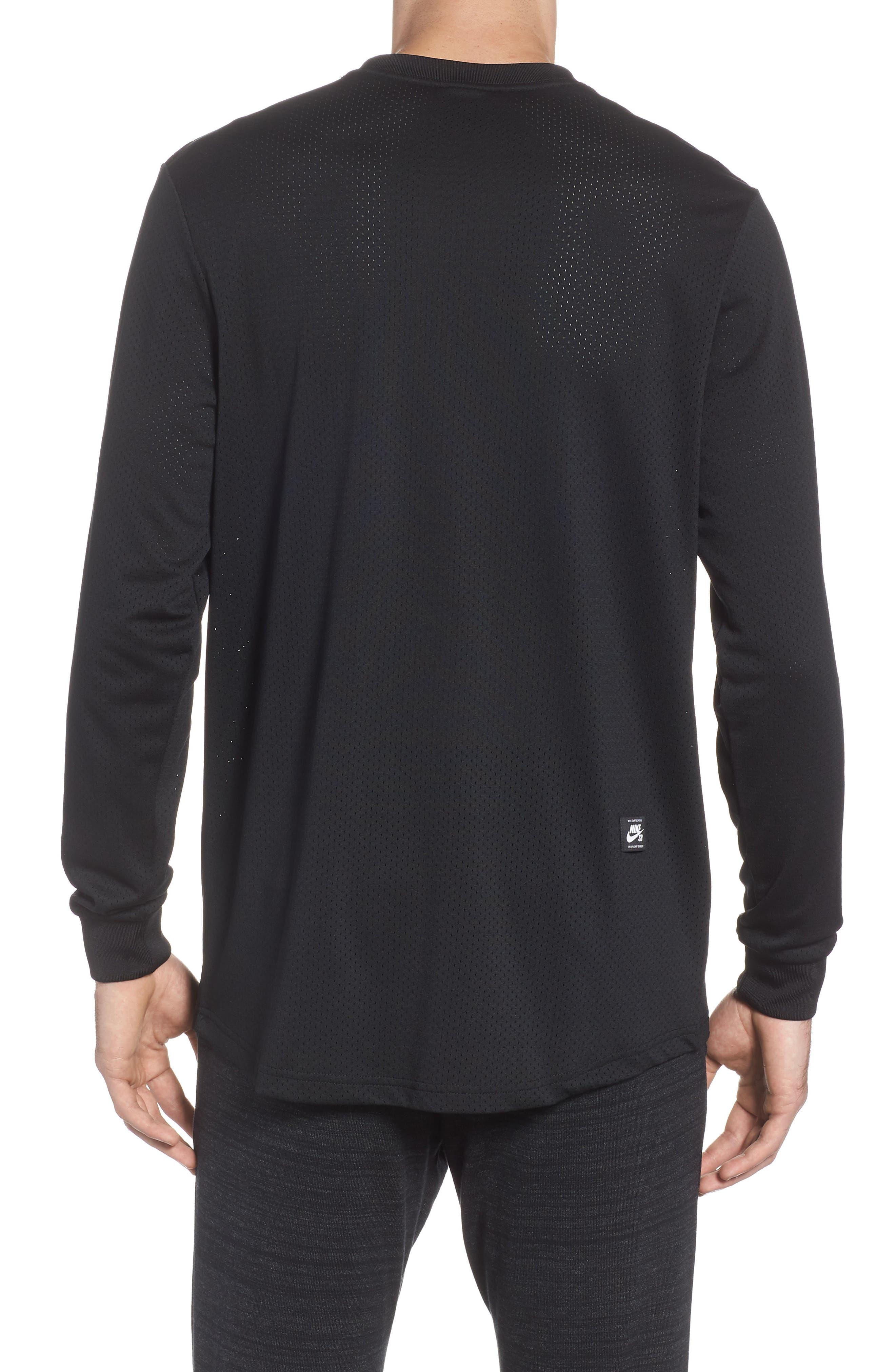 SB Dry GFX Long Sleeve T-Shirt,                             Alternate thumbnail 2, color,                             Black/ Black