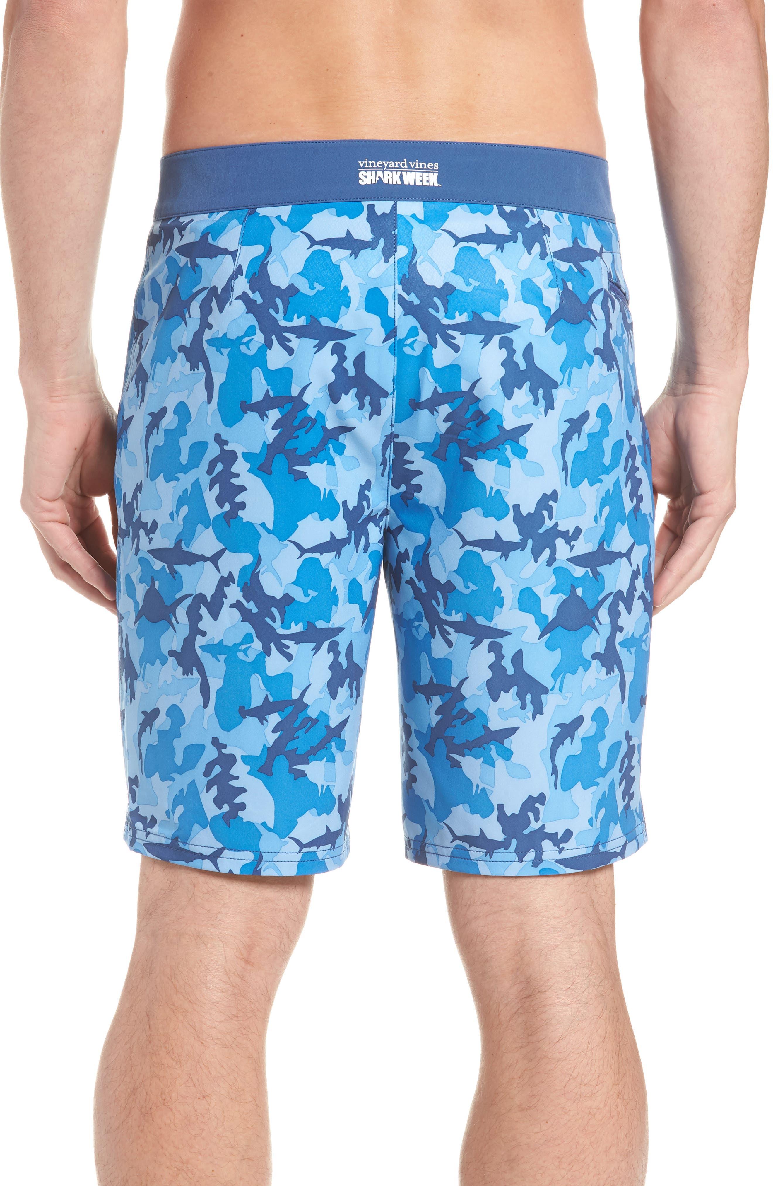 x Shark Week<sup>™</sup> Shark Camo Board Shorts,                             Alternate thumbnail 2, color,                             Hull Blue