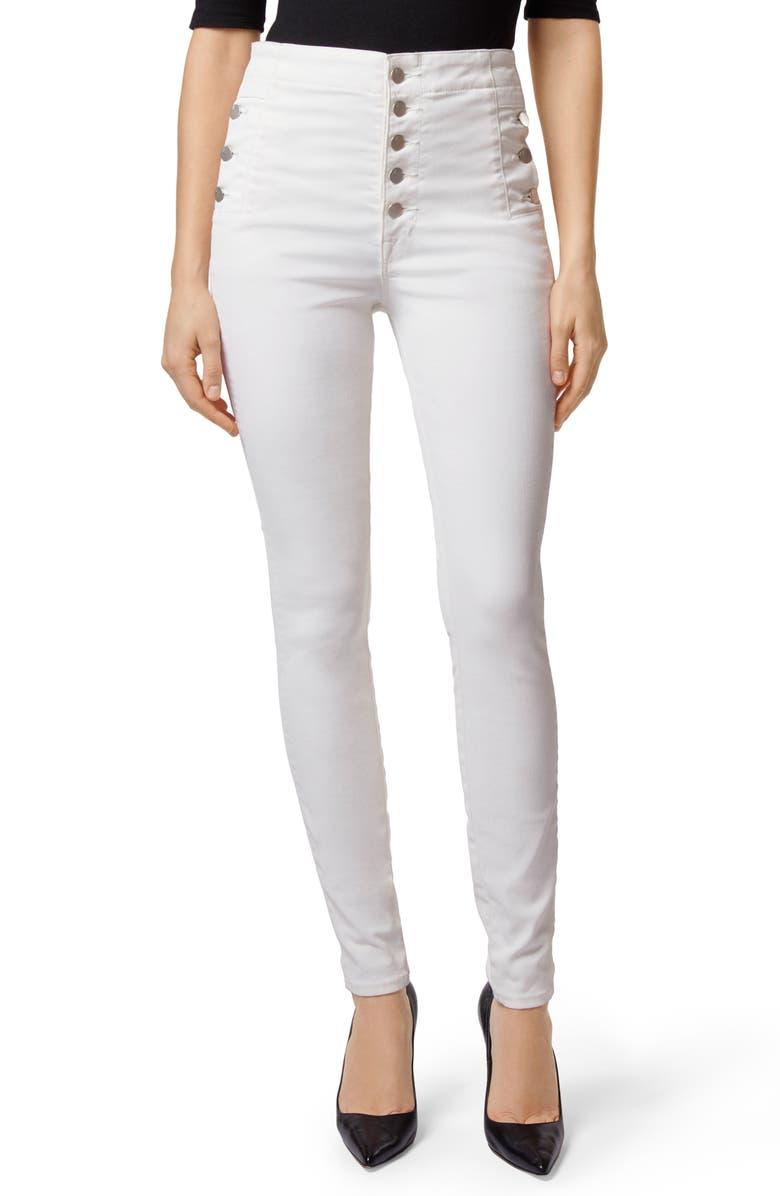 Natasha Sky High Coated Super Skinny Jeans
