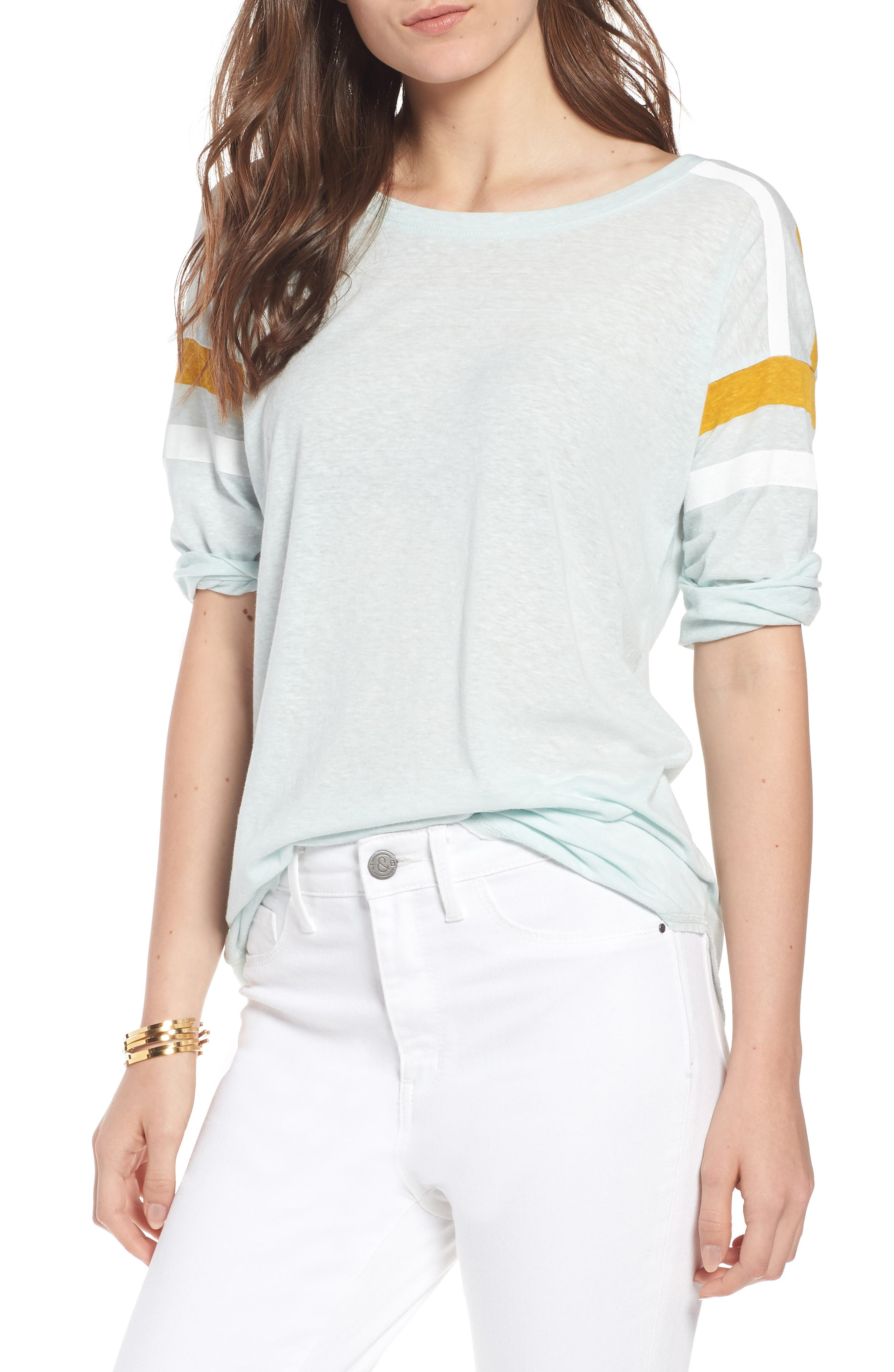 Sporty Tee,                         Main,                         color, Teal Surf Combo