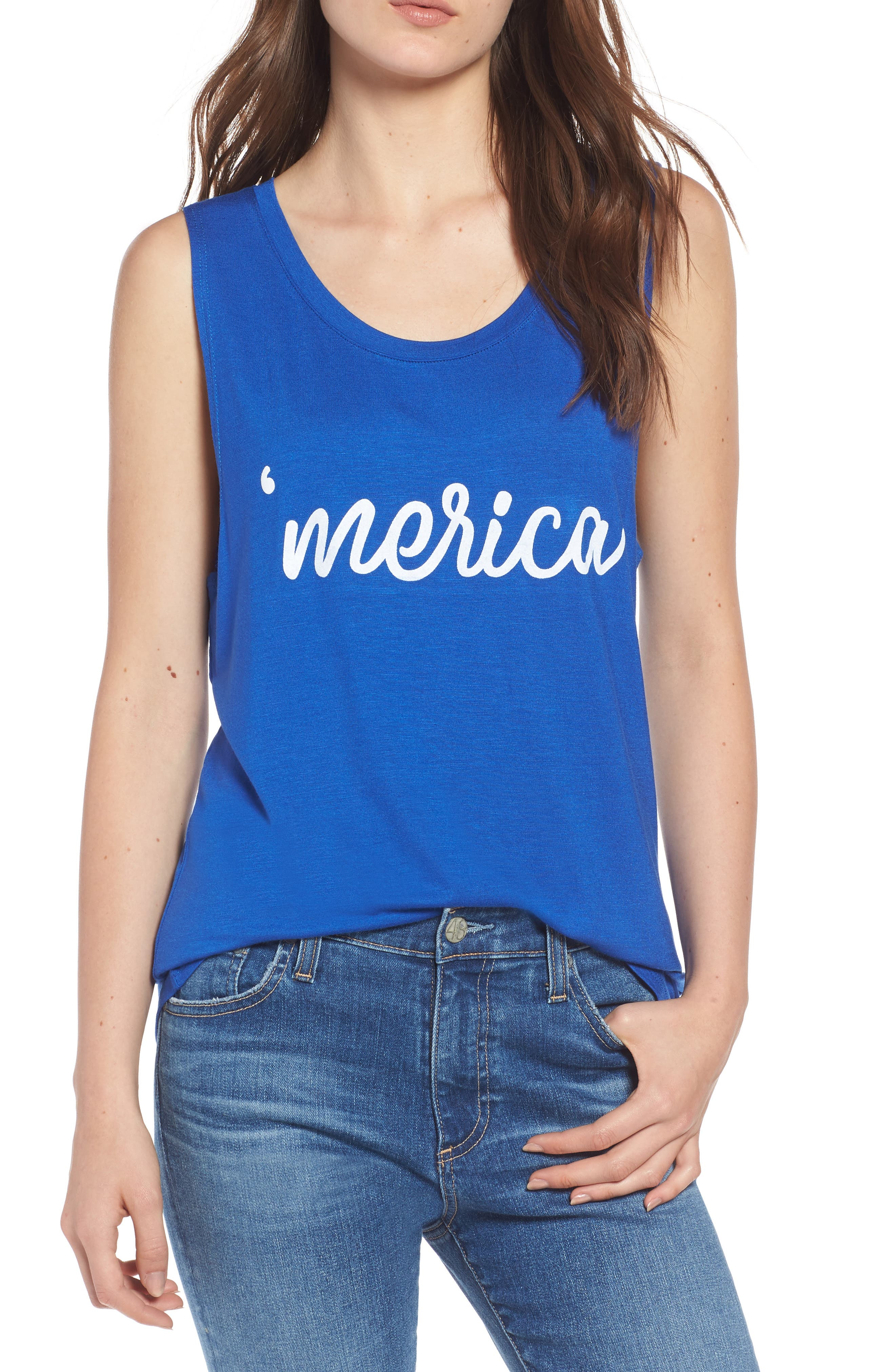 'Merica Tank,                             Main thumbnail 1, color,                             Navy