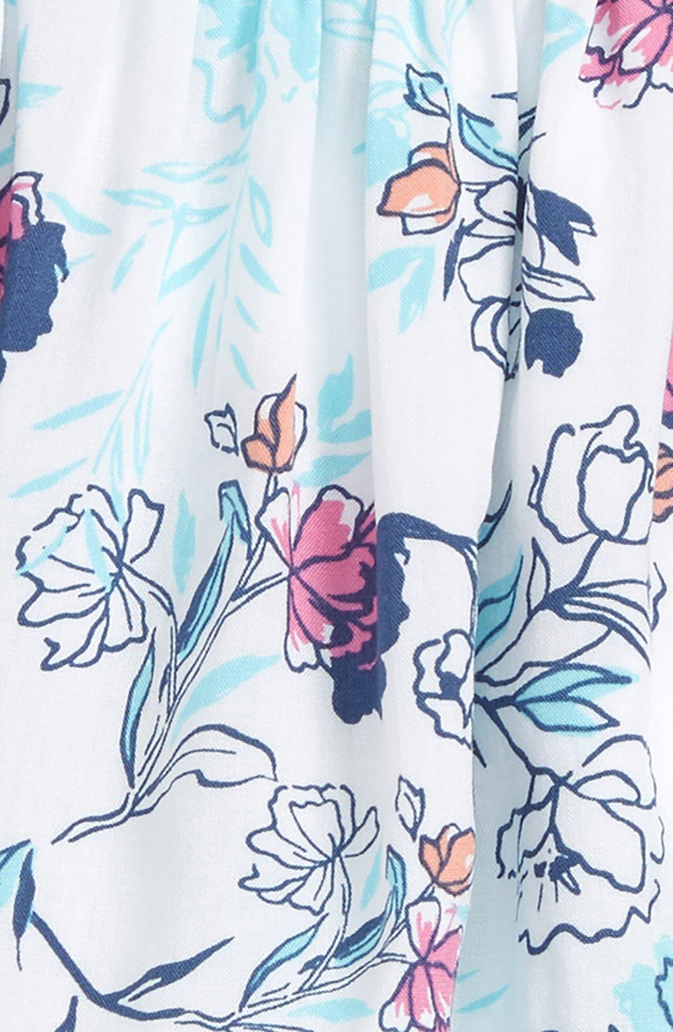 Floral Print Top & Leggings Set,                             Alternate thumbnail 2, color,                             Off White/ Floral