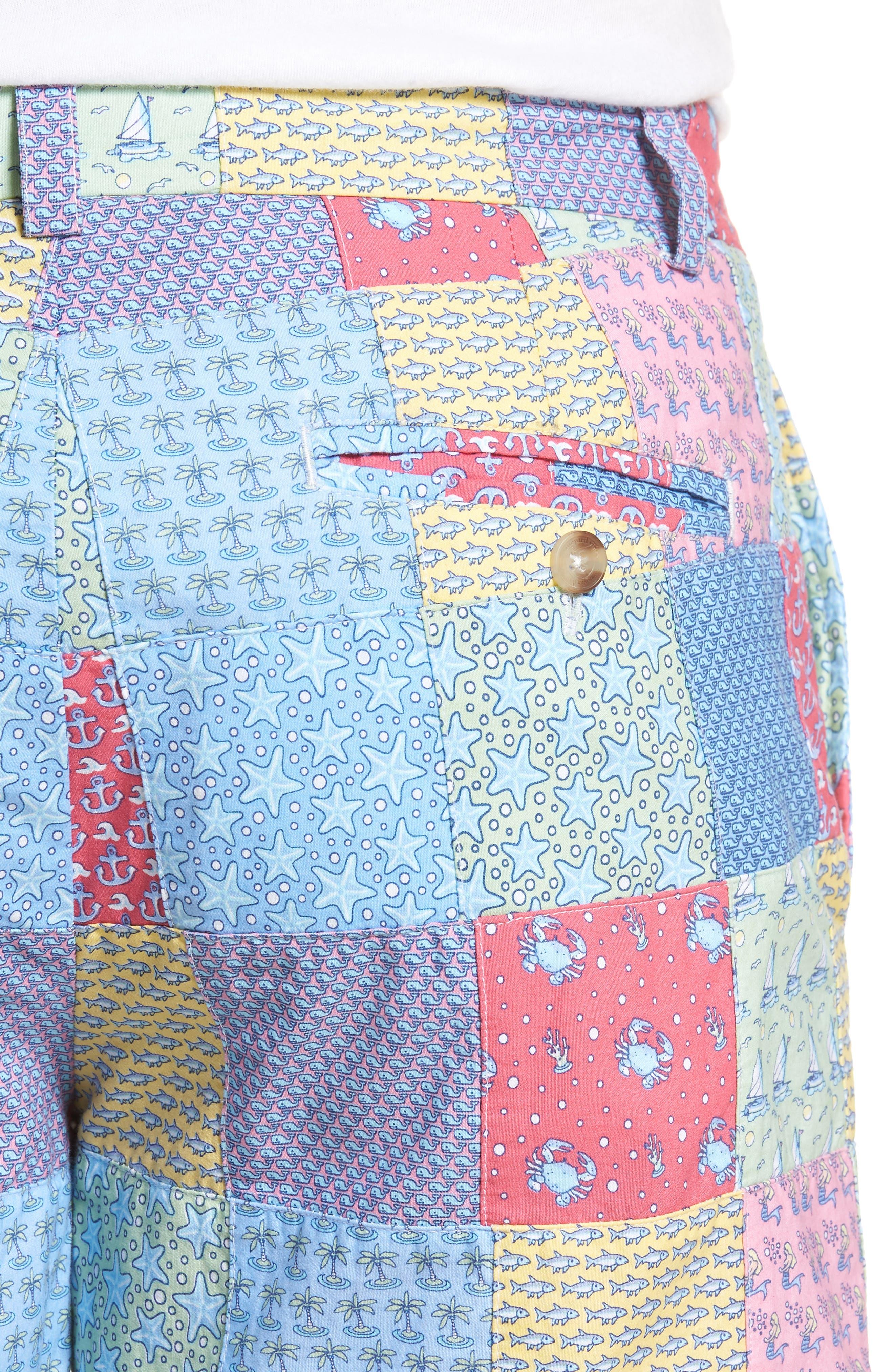 Patchwork Breaker Shorts,                             Alternate thumbnail 4, color,                             Sailors Red