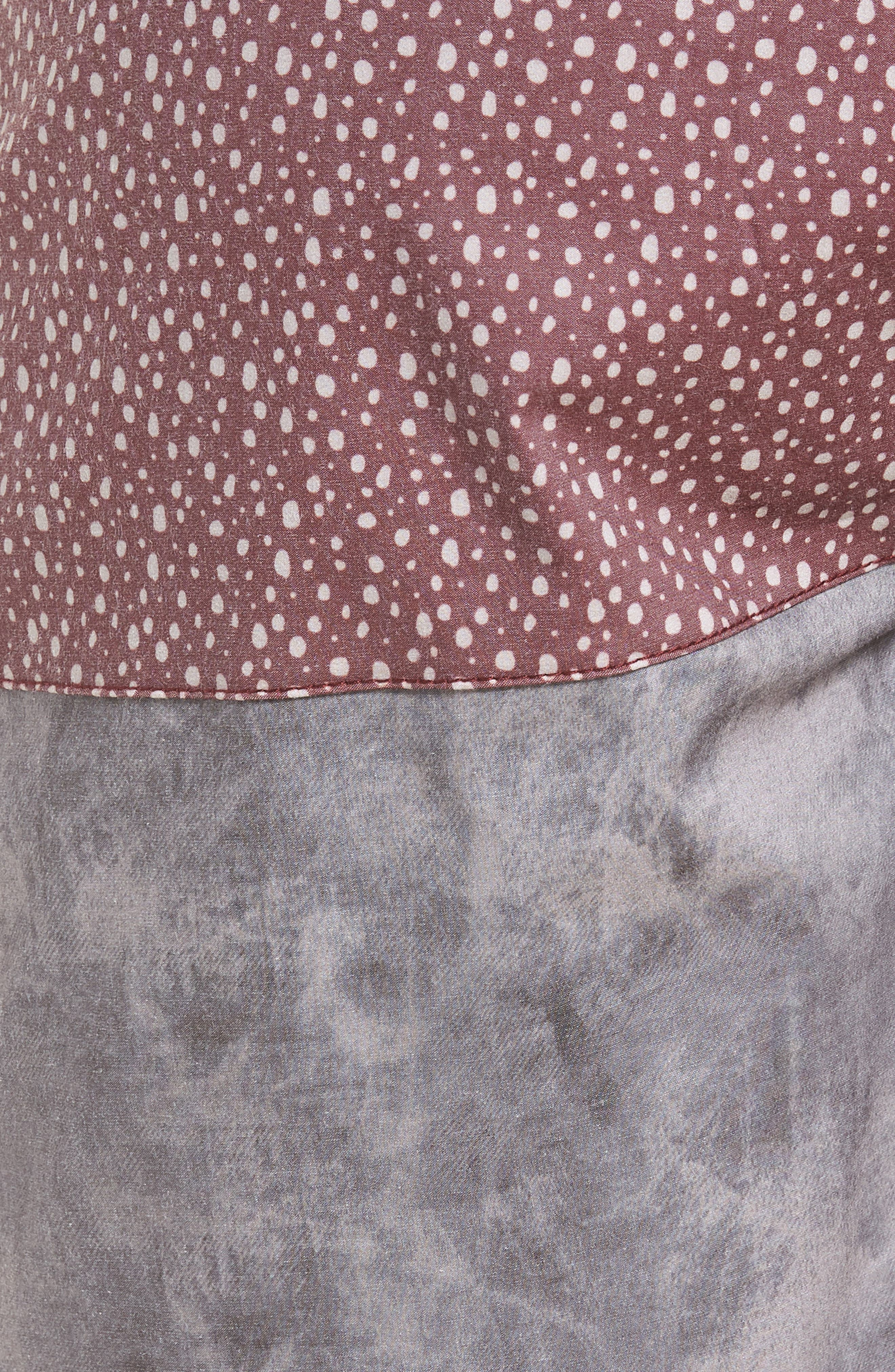 Dotted Swim Shorts,                             Alternate thumbnail 5, color,                             Rust
