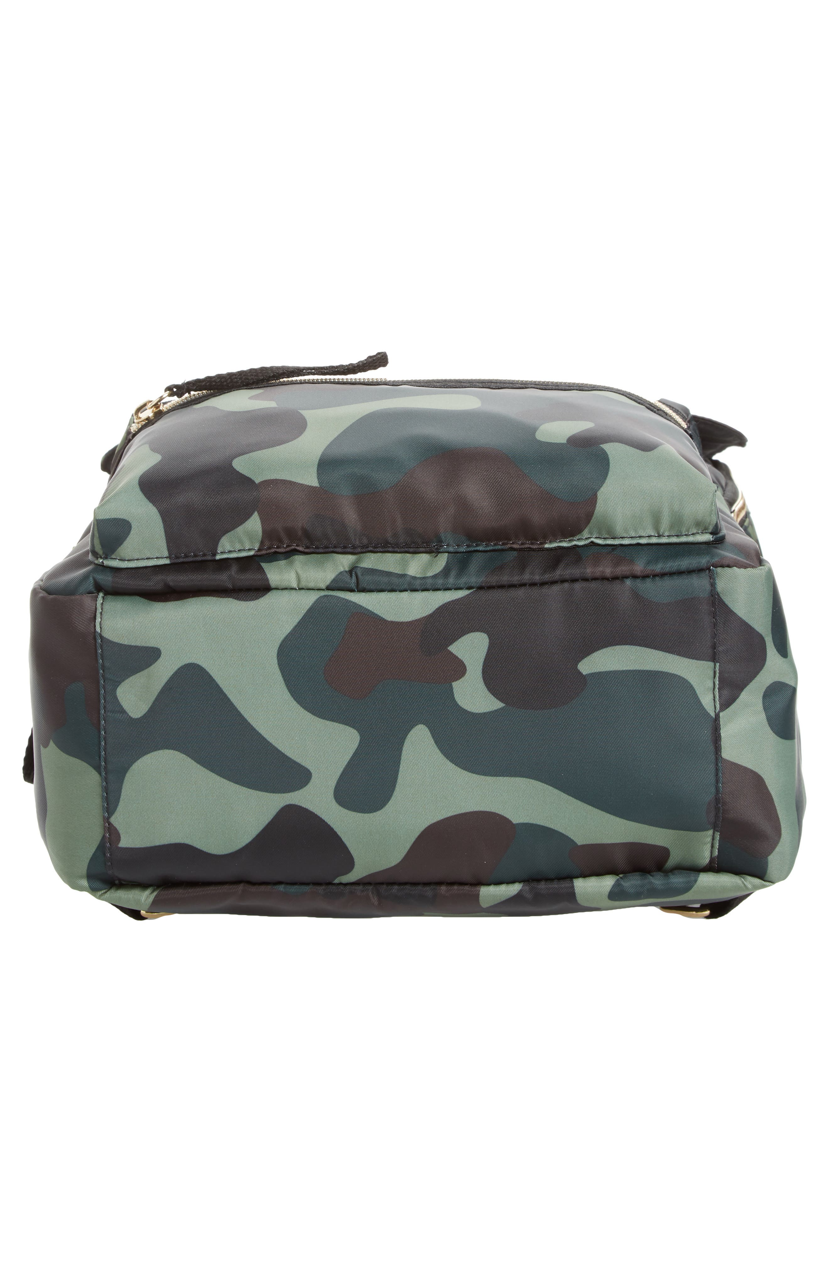 Camouflage Nylon Backpack,                             Alternate thumbnail 6, color,                             Camo Green