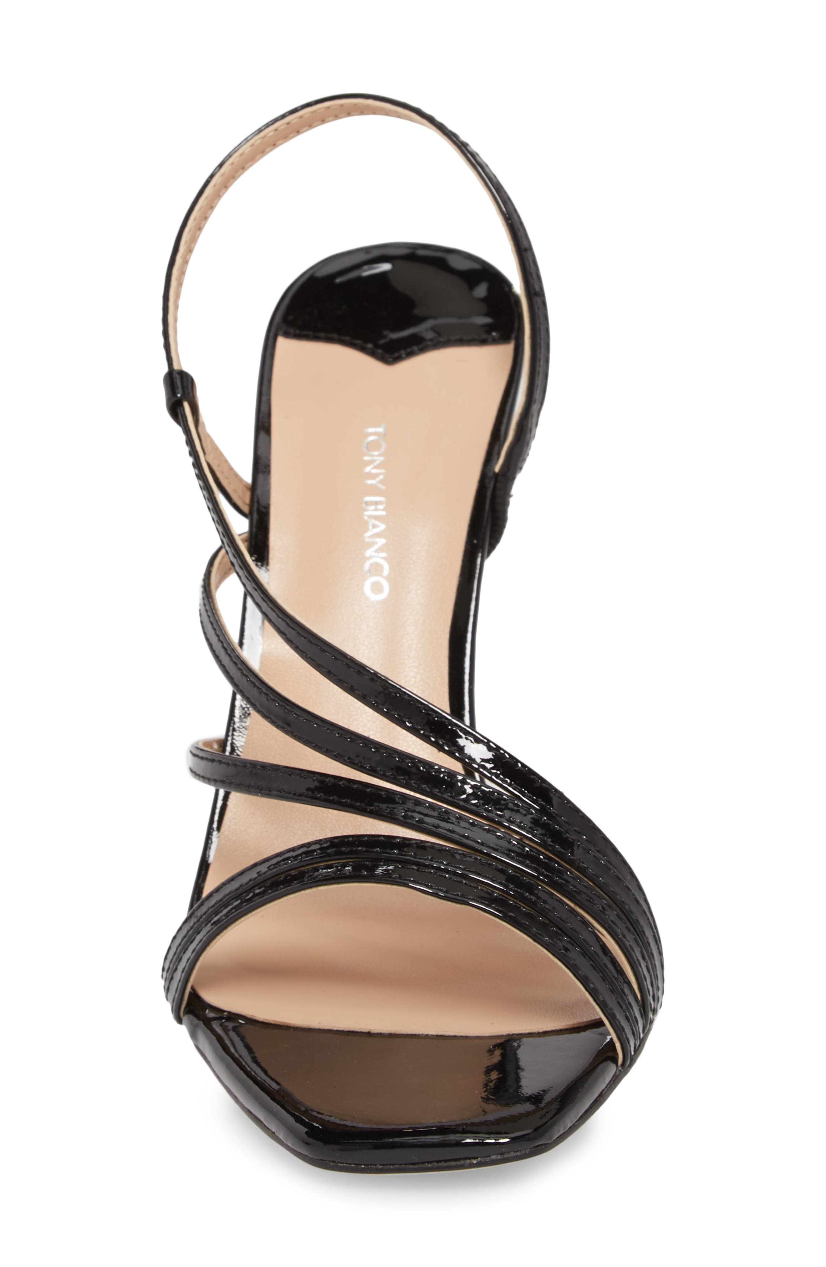 Selena Sandal,                             Alternate thumbnail 3, color,                             Black Patent Leather