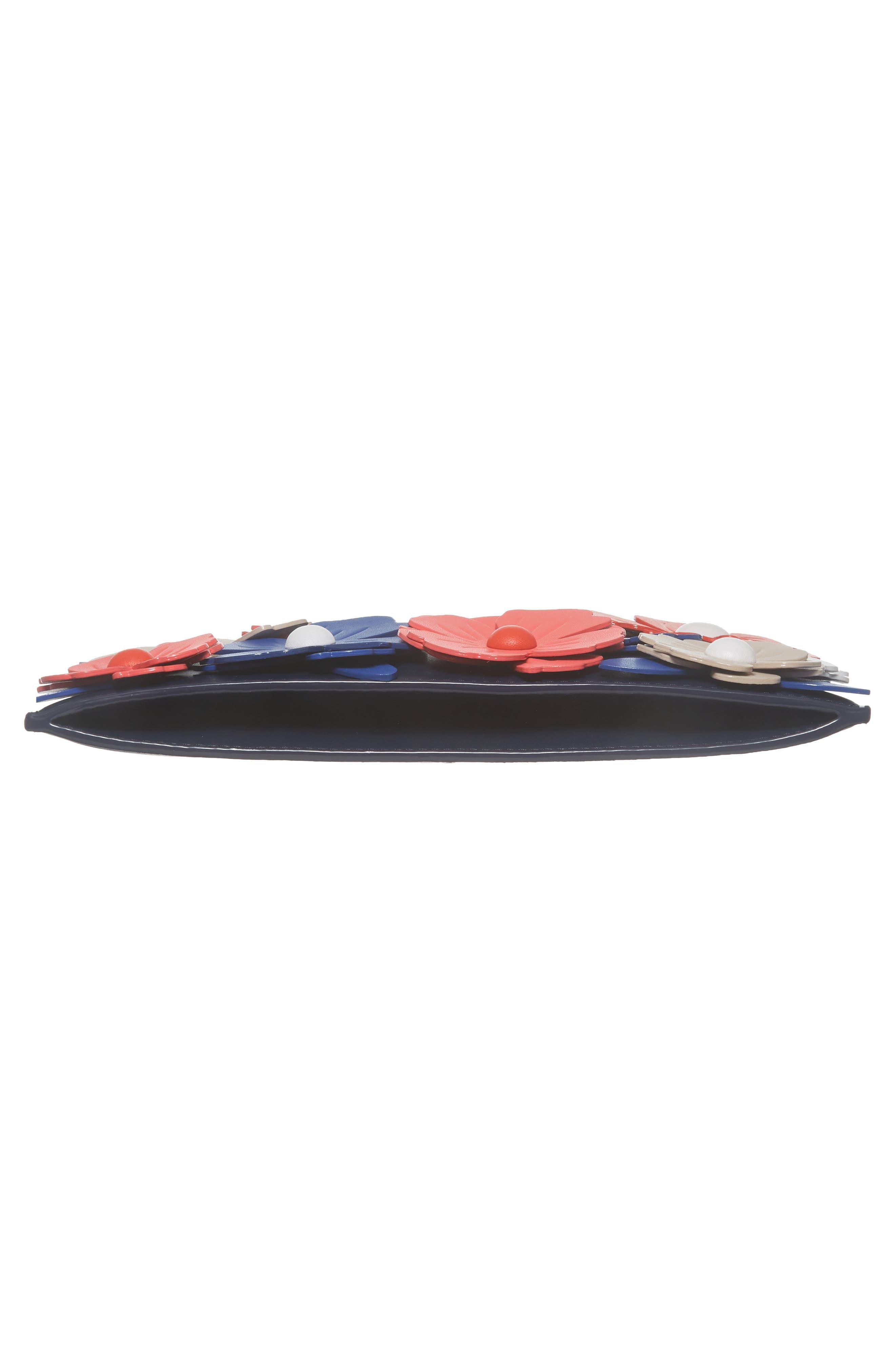 madison daisy lane - sima leather crossbody bag,                             Alternate thumbnail 6, color,                             Blazer Blue Multi