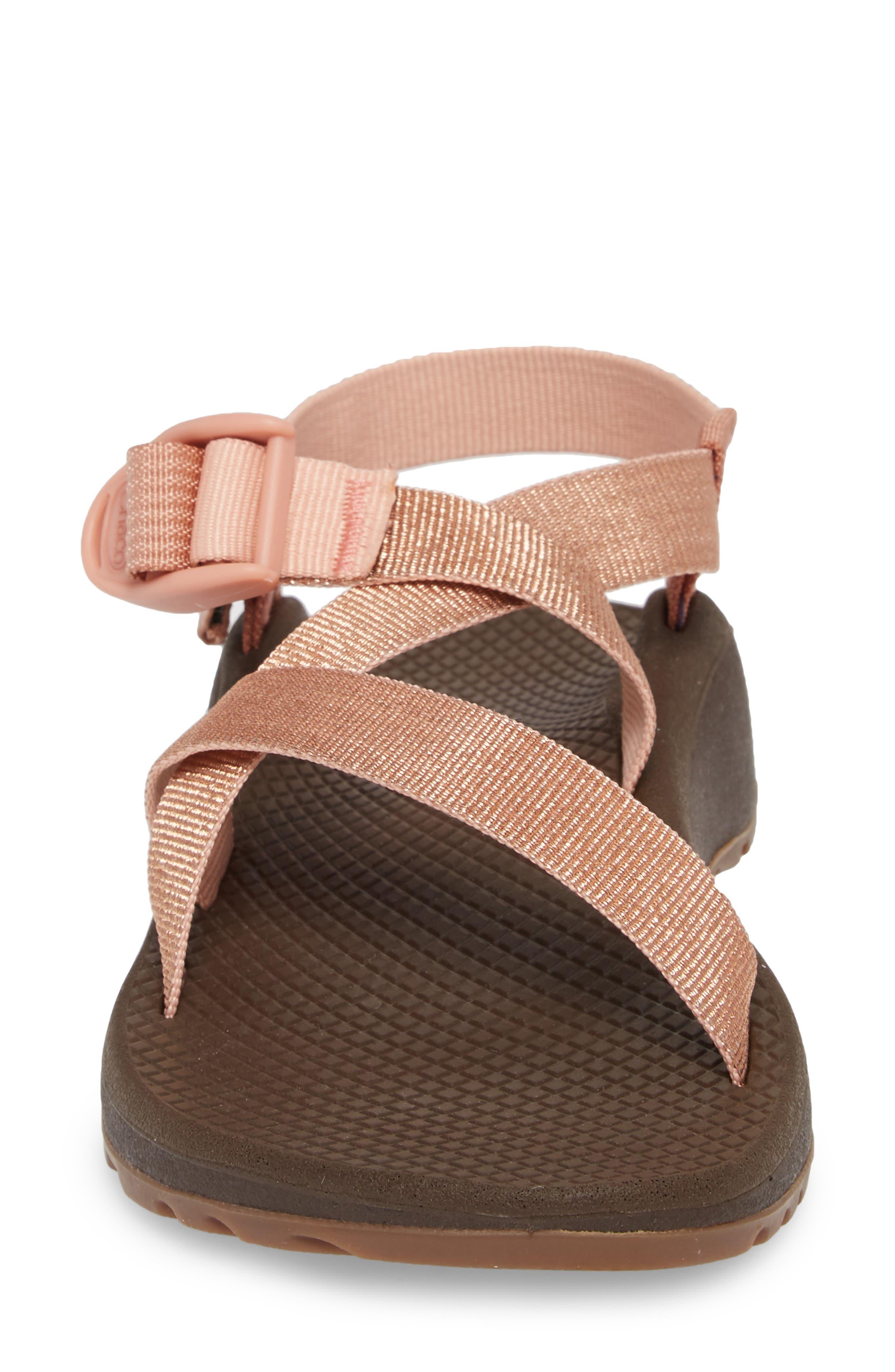 Z/Cloud Sandal,                             Alternate thumbnail 4, color,                             Metallic Rose Leather