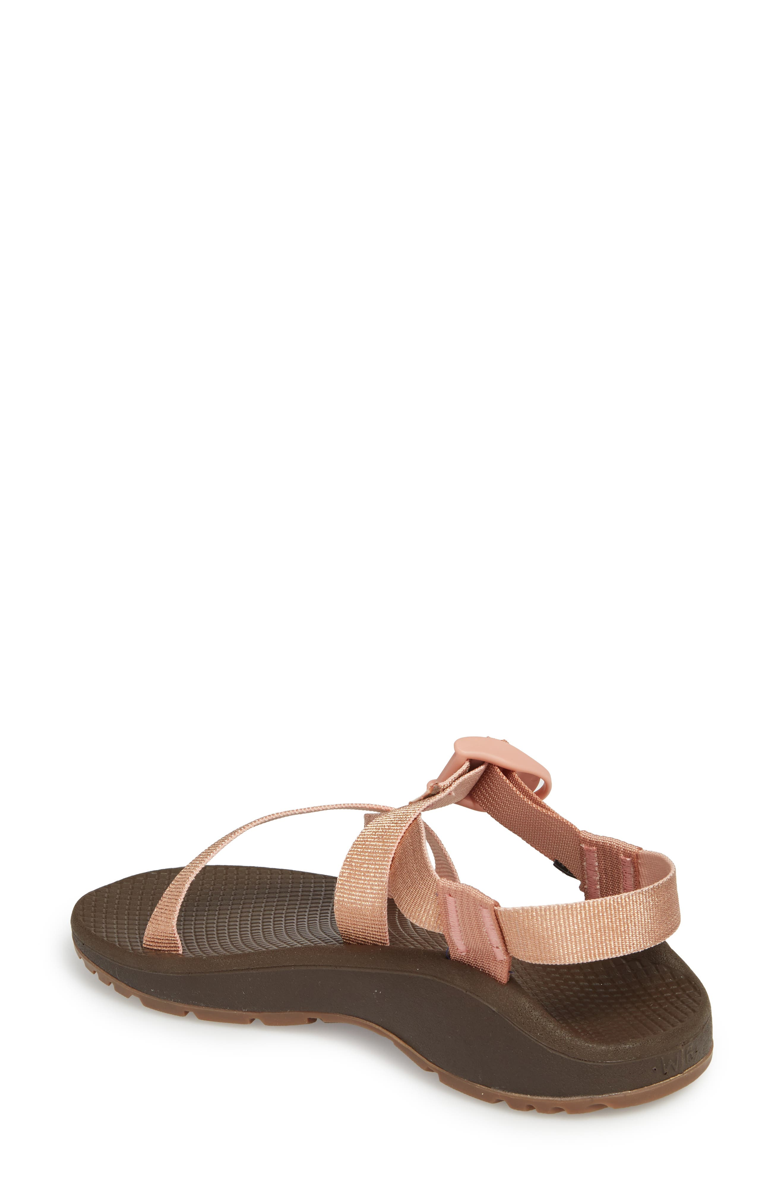 Z/Cloud Sandal,                             Alternate thumbnail 2, color,                             Metallic Rose Leather