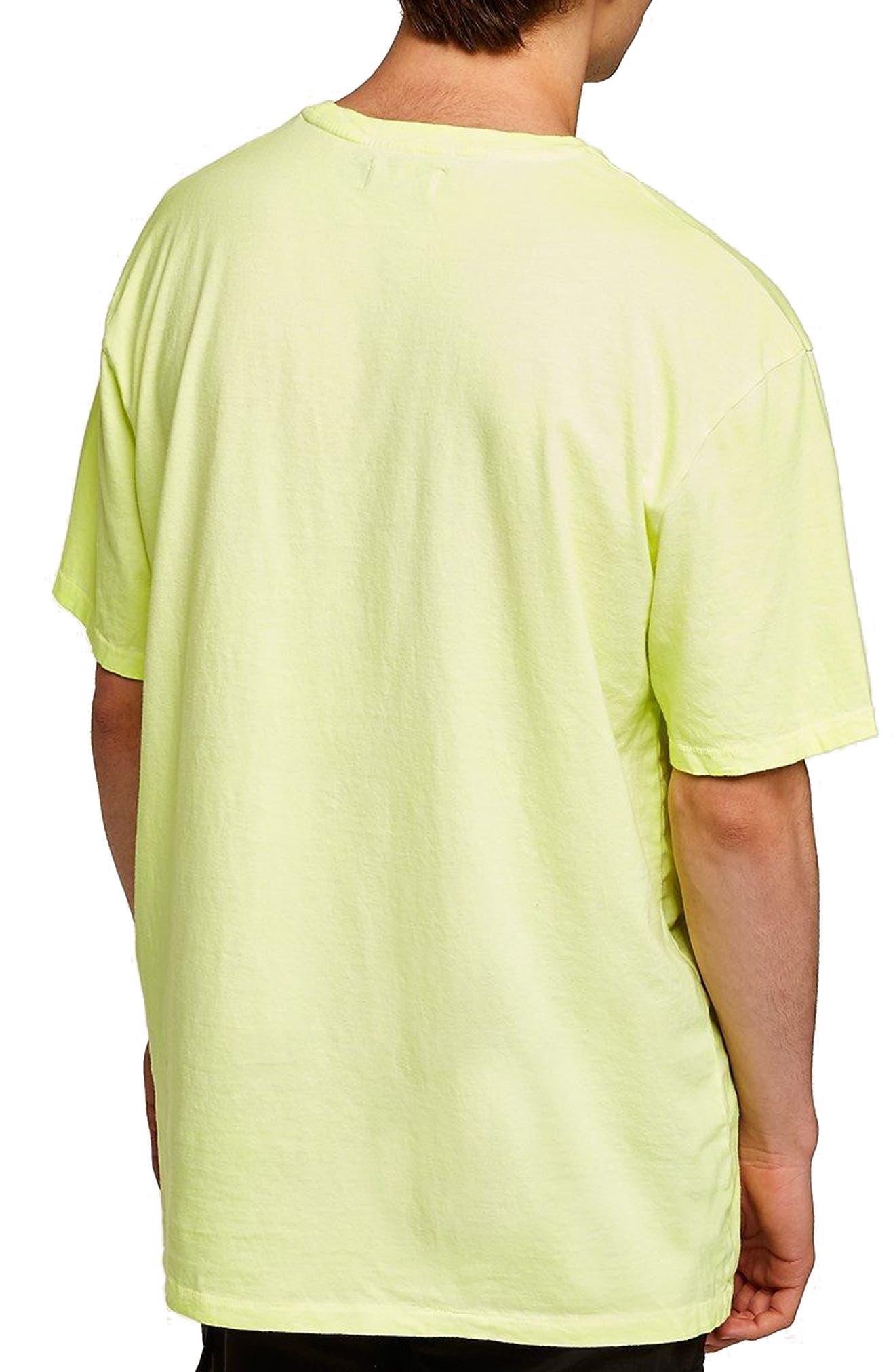 Oversize Acid Wash Pocket T-Shirt,                             Alternate thumbnail 2, color,                             Light Green