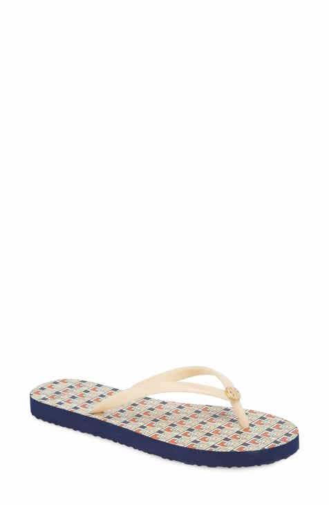 100a0136e Cognac AEO Perforated Leather Flip Flop t