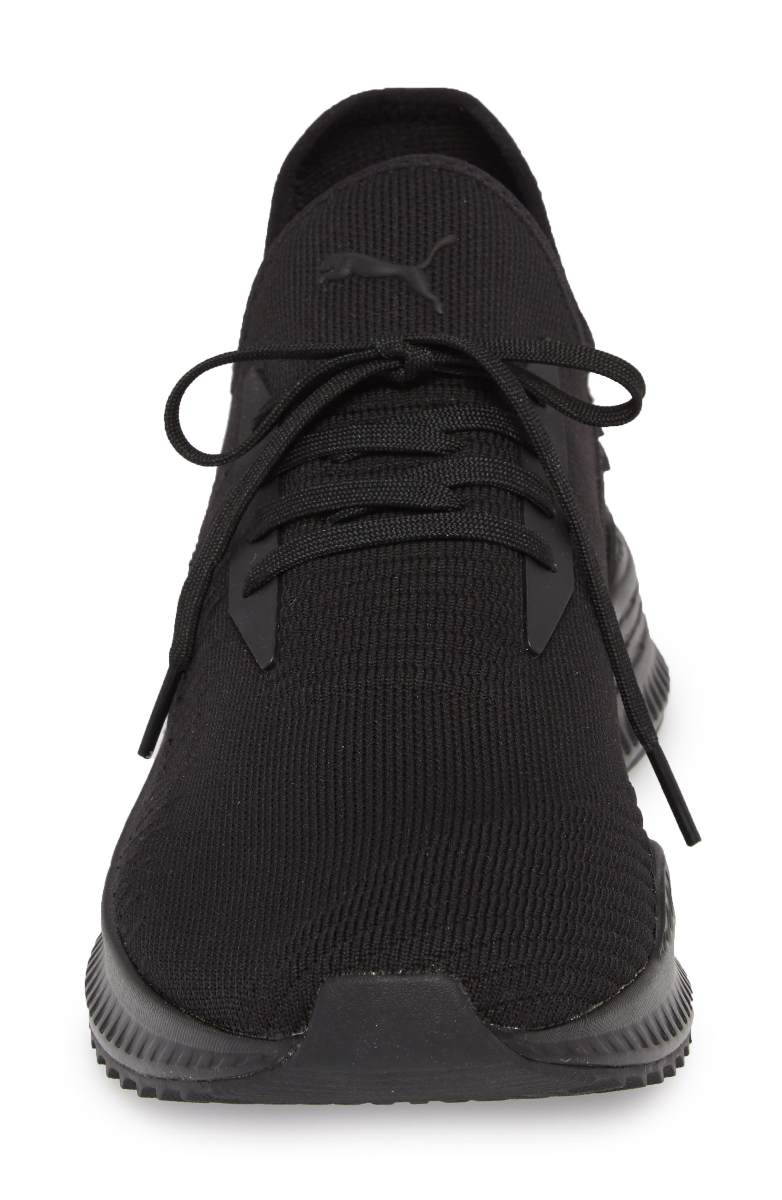 AVID evoKNIT Sneaker,                             Alternate thumbnail 4, color,                             Black/ Black