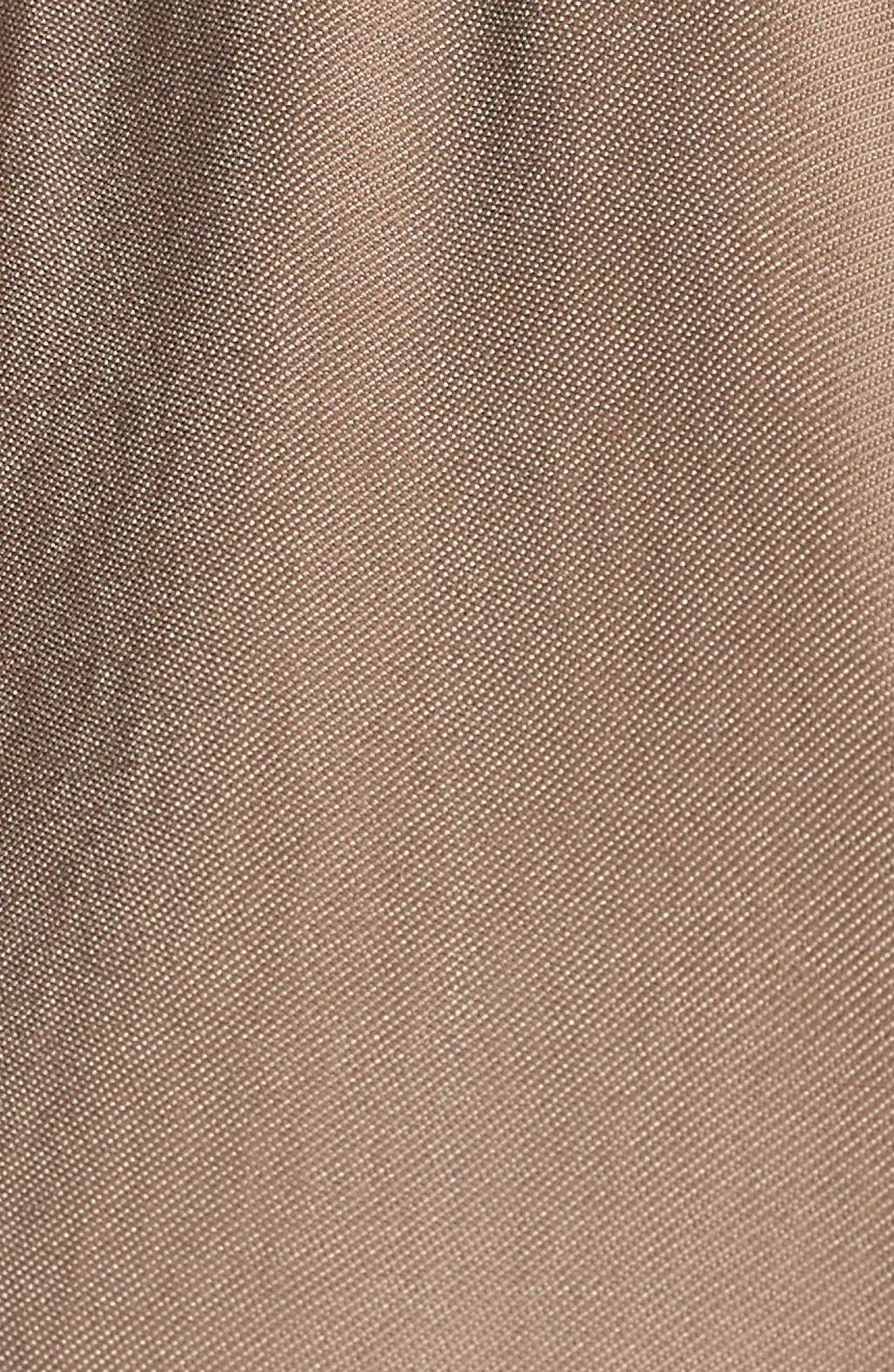 Twill Zip Front Jacket,                             Alternate thumbnail 6, color,                             Tan Greige
