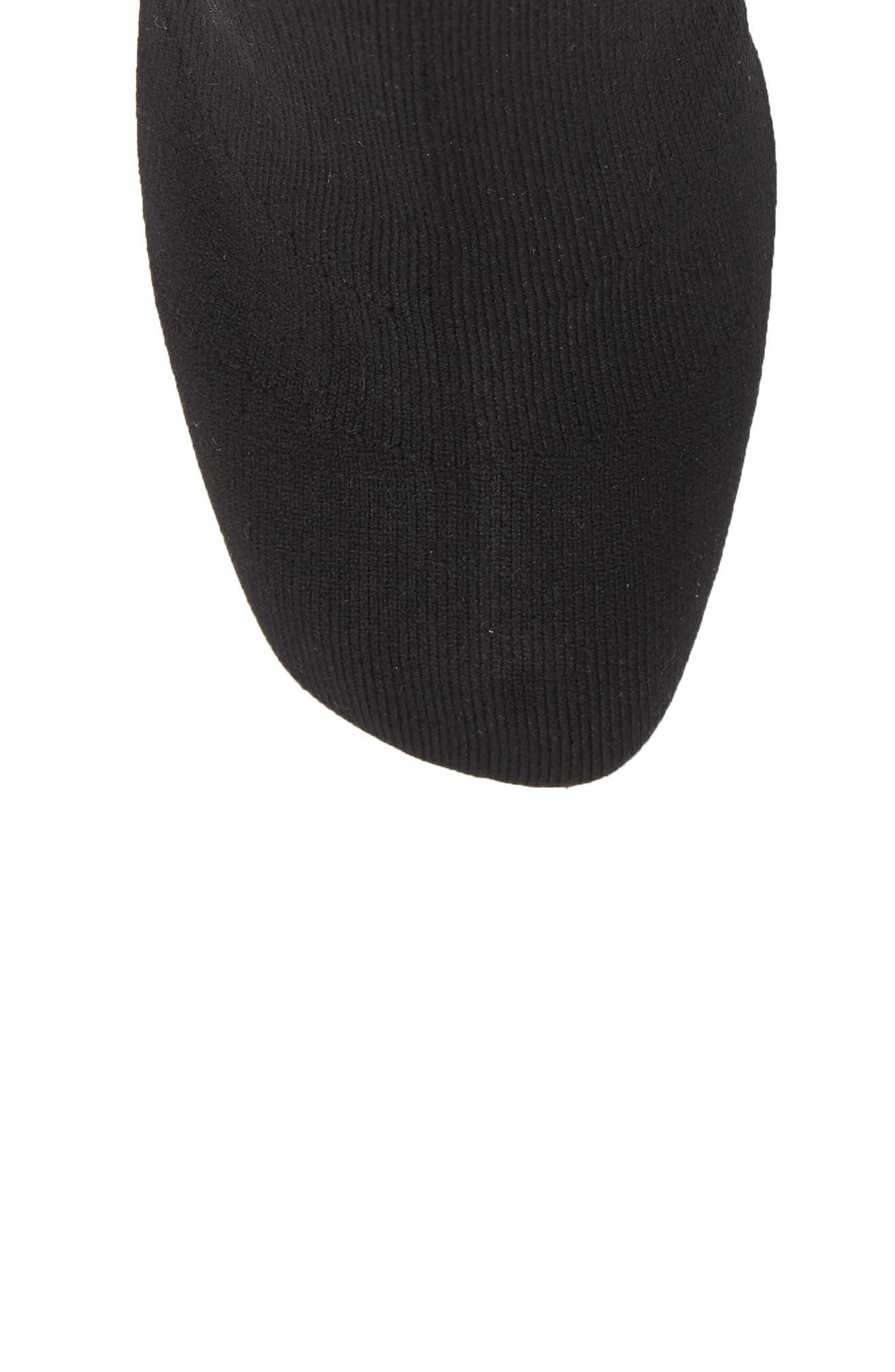 Ellis Sock Knit Boot,                             Alternate thumbnail 5, color,                             Black