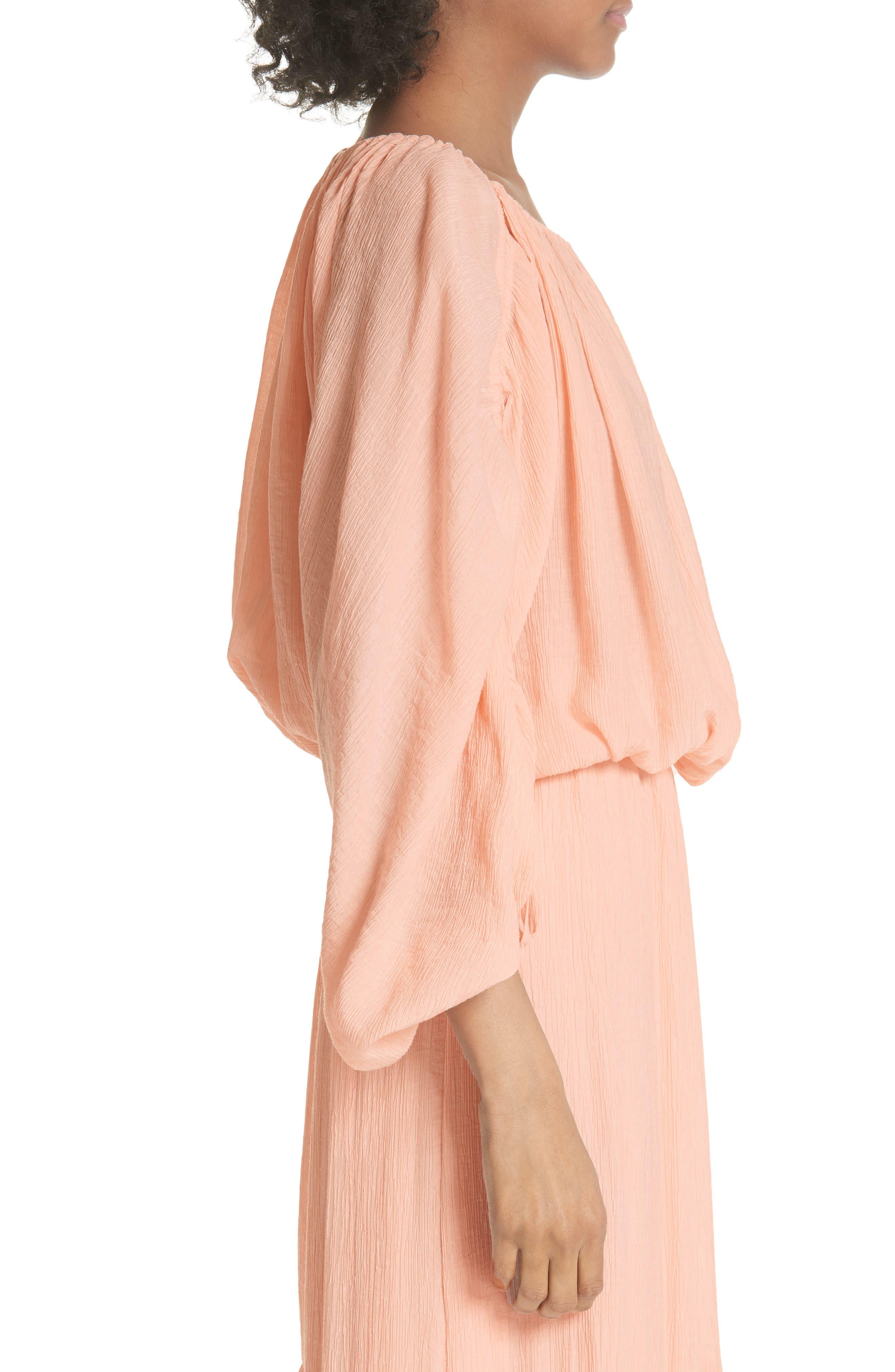 Elazara Ruched Sleeve Peasant Top,                             Alternate thumbnail 3, color,                             Summer Pink