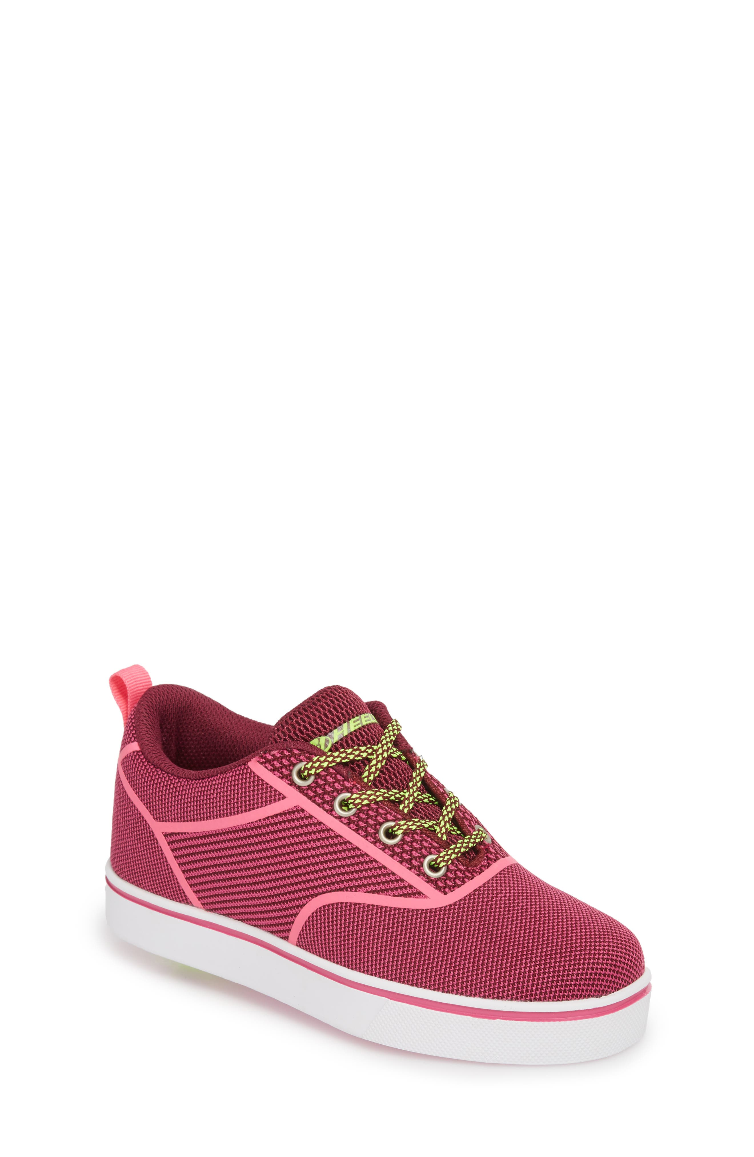 Launch Knit Sneaker,                             Main thumbnail 1, color,                             Berry/ Pink
