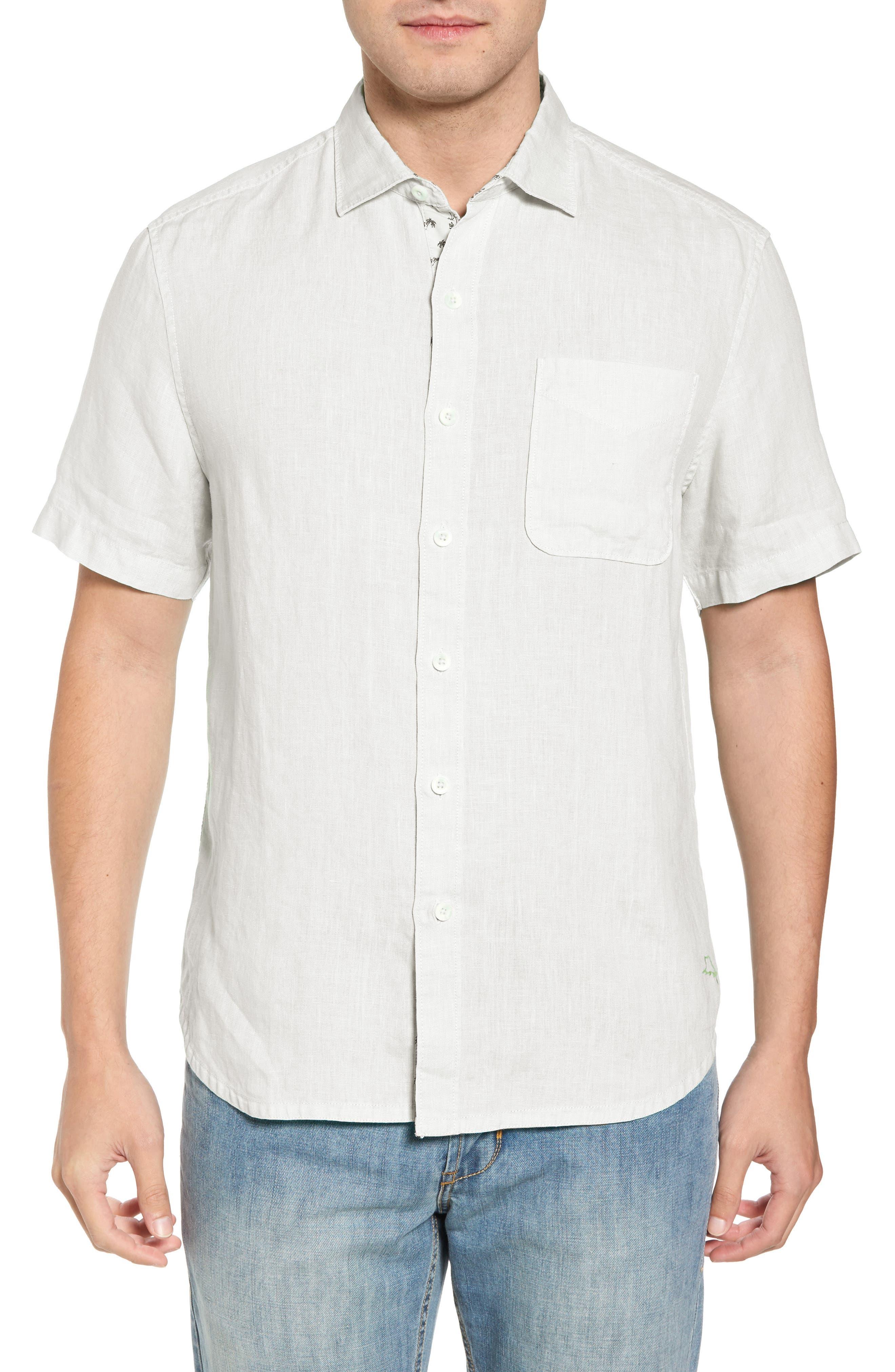 Seaspray Breezer Linen Sport Shirt,                             Main thumbnail 1, color,                             White