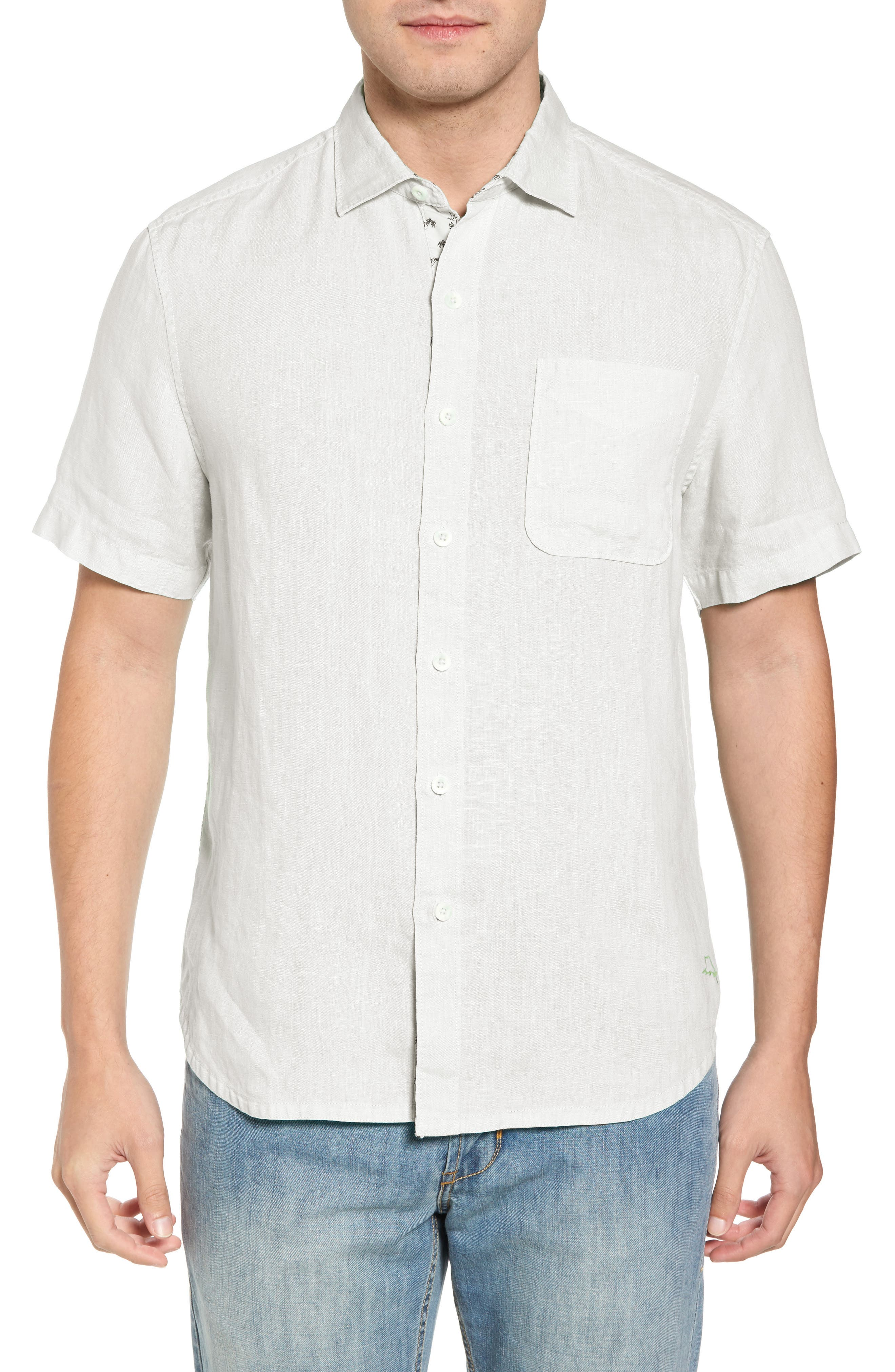 Seaspray Breezer Linen Sport Shirt,                         Main,                         color, White