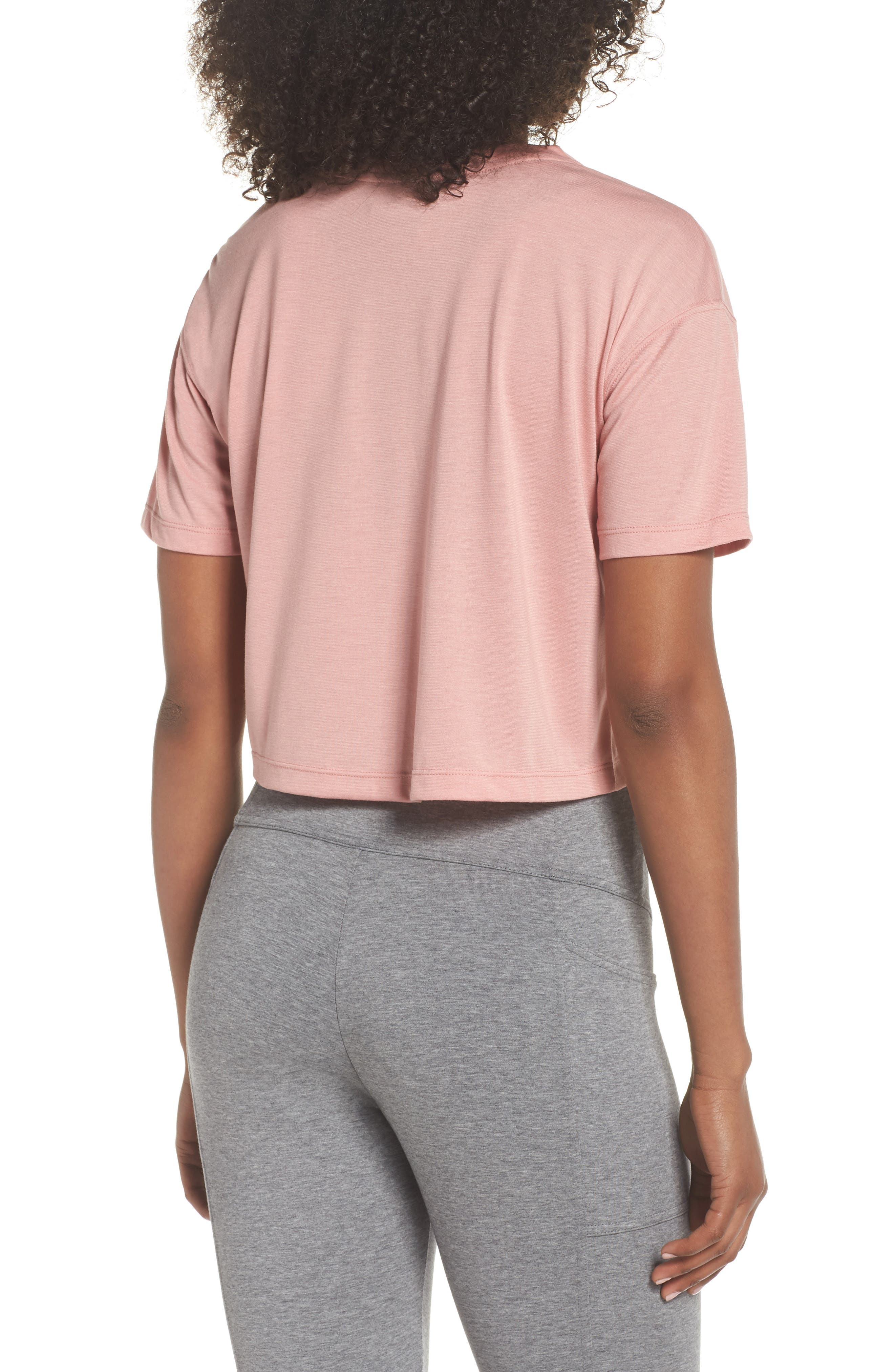 Sportswear Crop Top,                             Alternate thumbnail 2, color,                             Rust Pink/ White