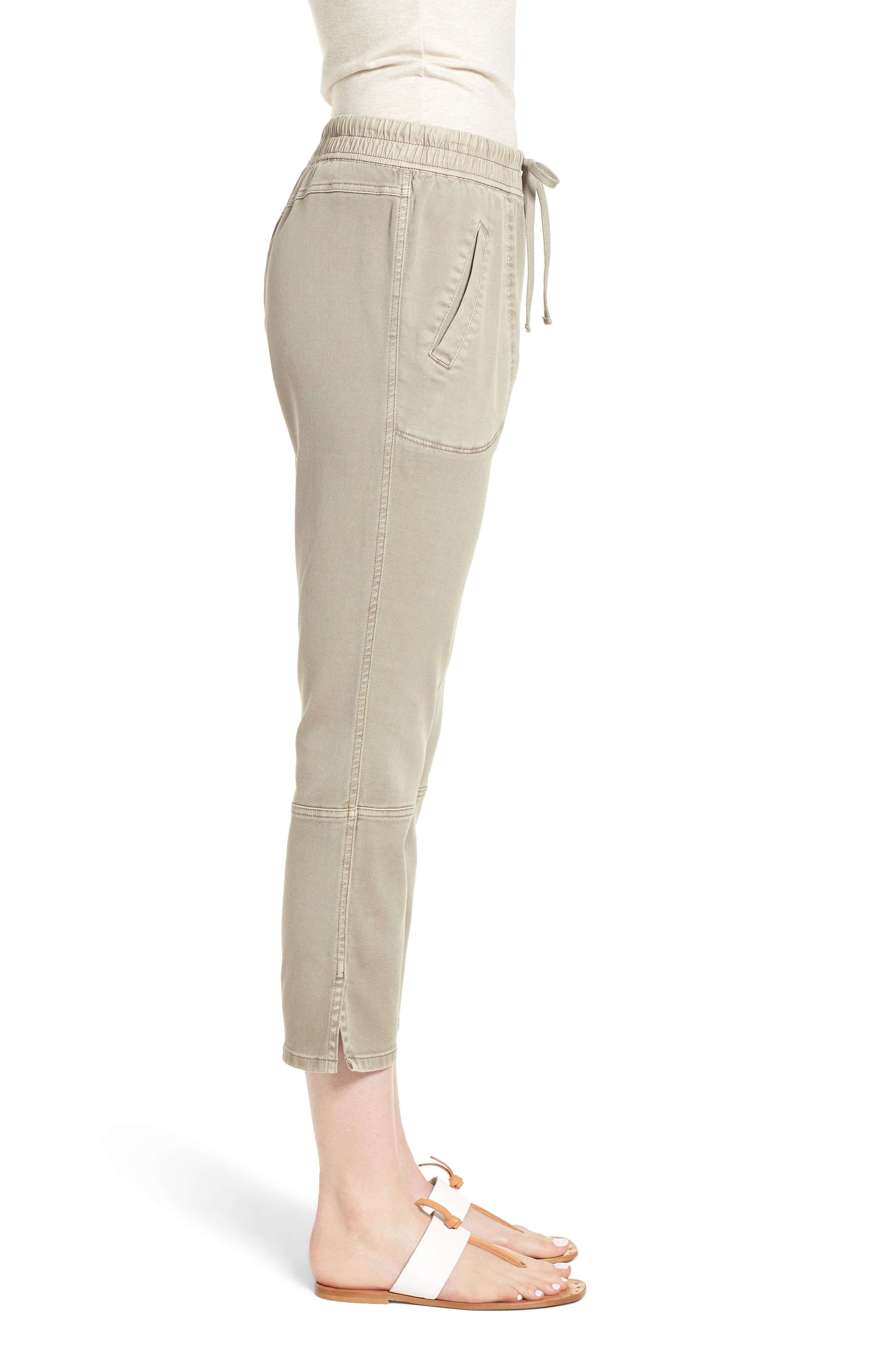 Open Road Ankle Pants,                             Alternate thumbnail 3, color,                             Flax