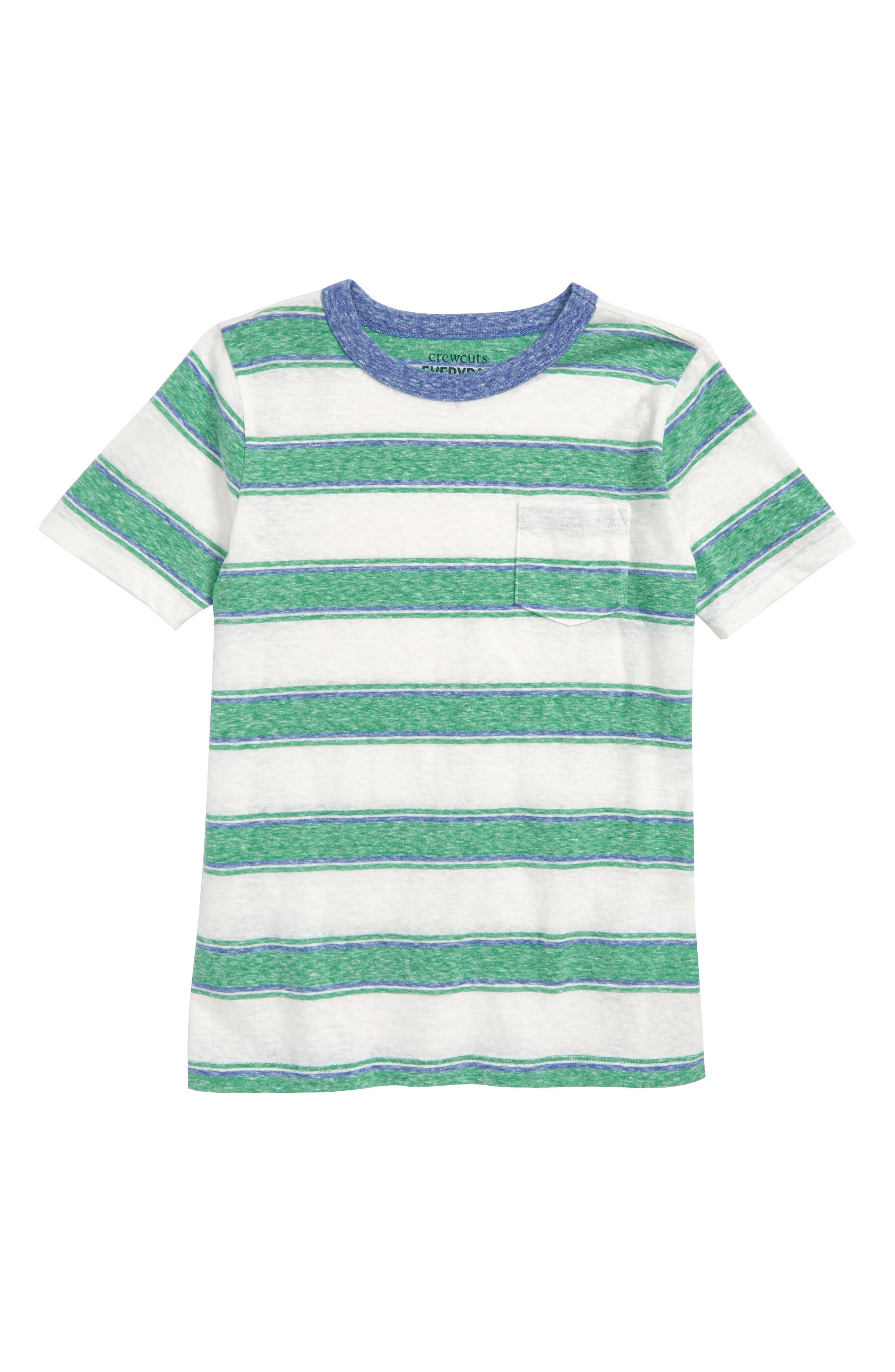 Abbot Surfside Stripe T-Shirt,                         Main,                         color, Clover Ivory Multi