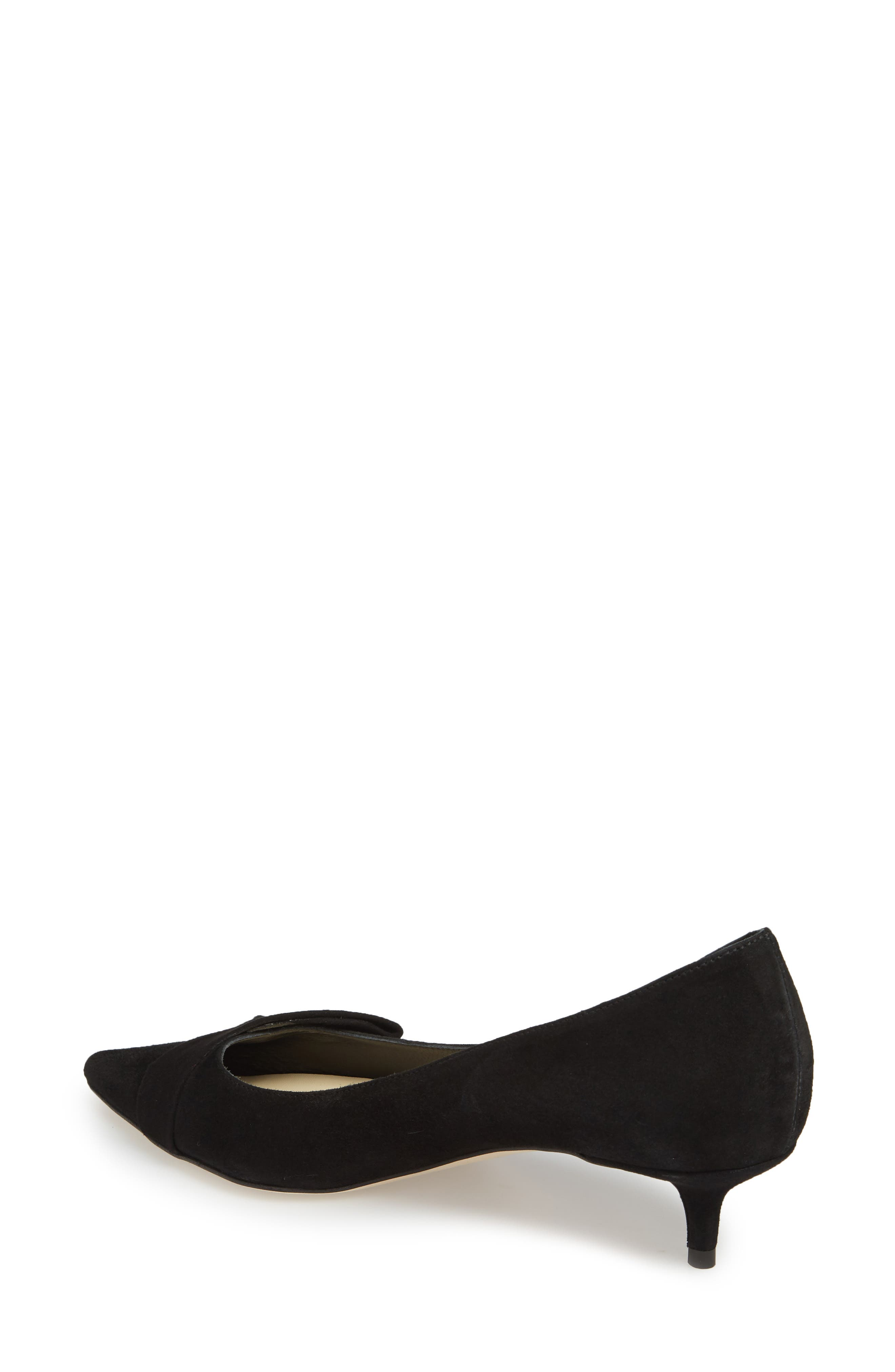 Butter Bliss Pointy Toe Pump,                             Alternate thumbnail 2, color,                             Black Suede