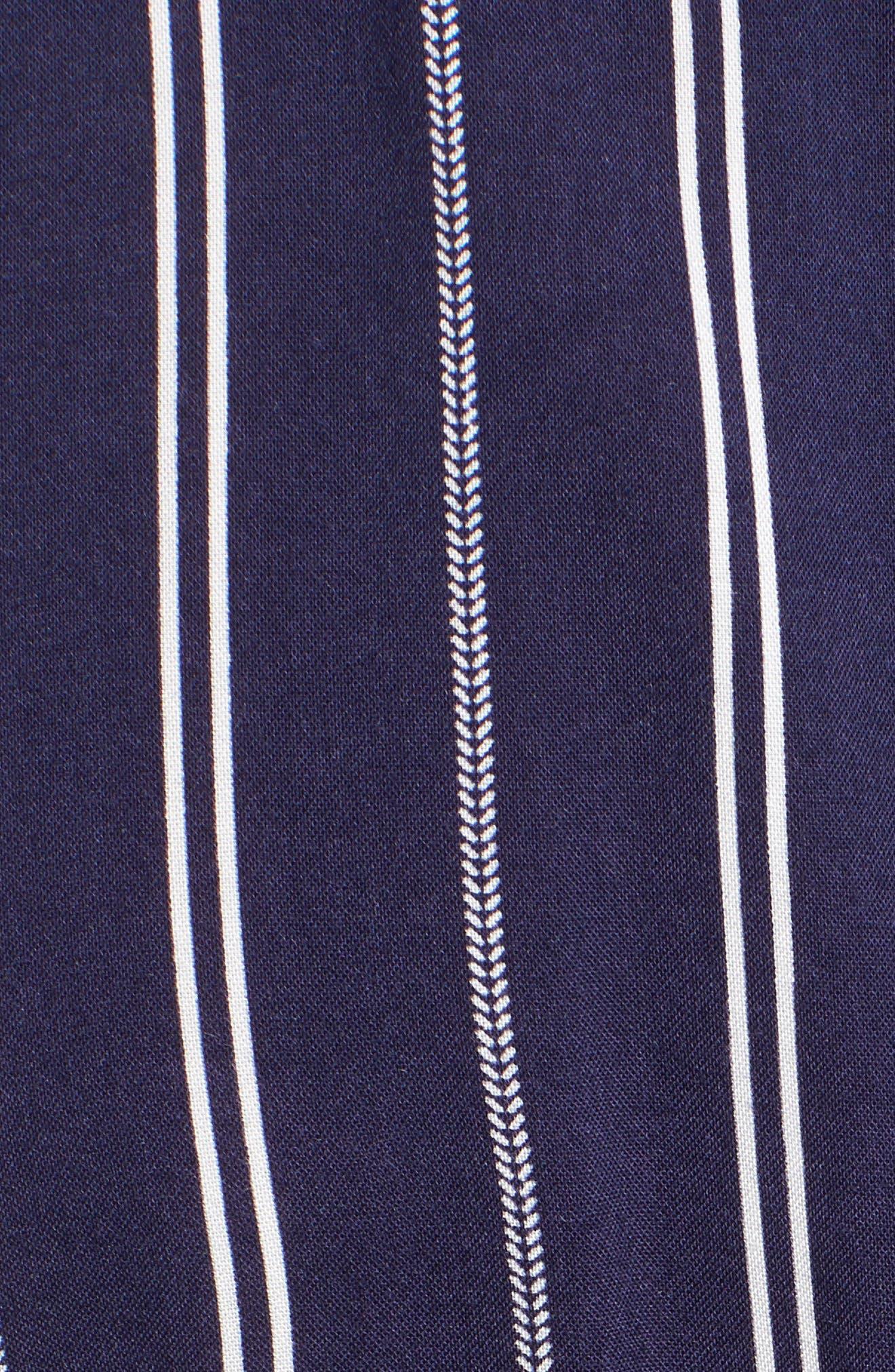 Stripe Side Tie Jumpsuit,                             Alternate thumbnail 6, color,                             Navy