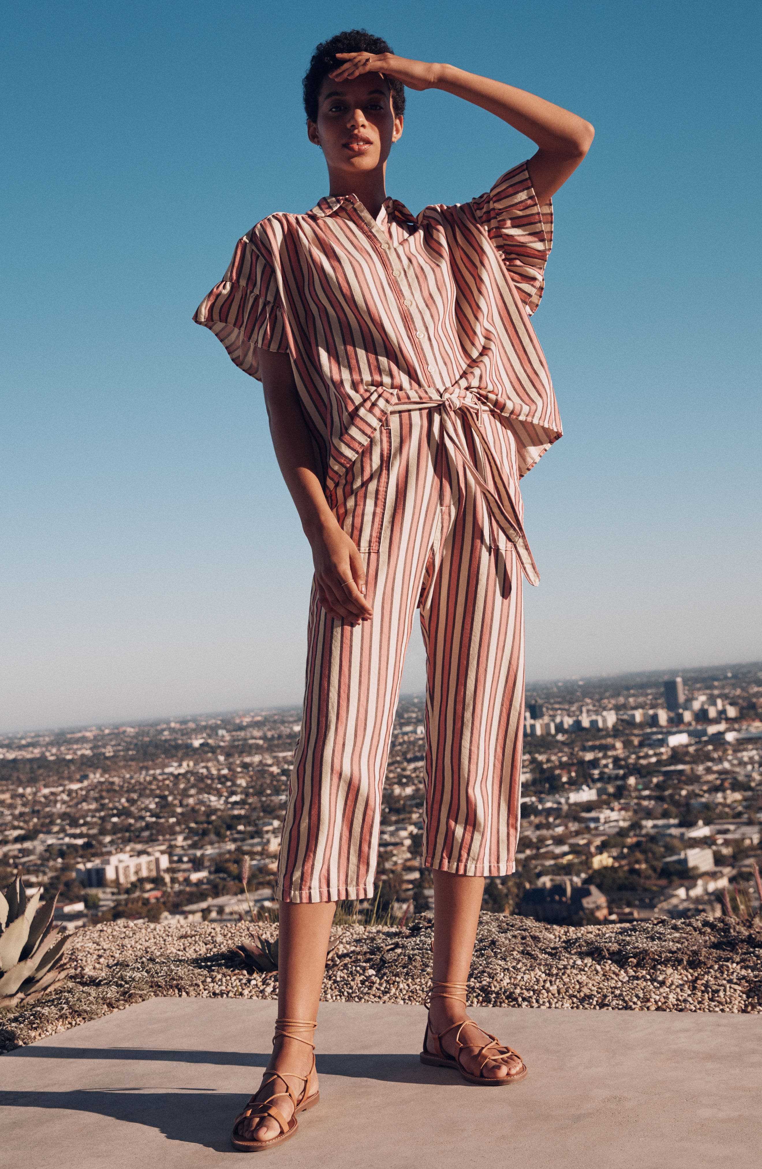 The Convertible Trousers,                             Alternate thumbnail 9, color,                             Pink Taffy Stripe