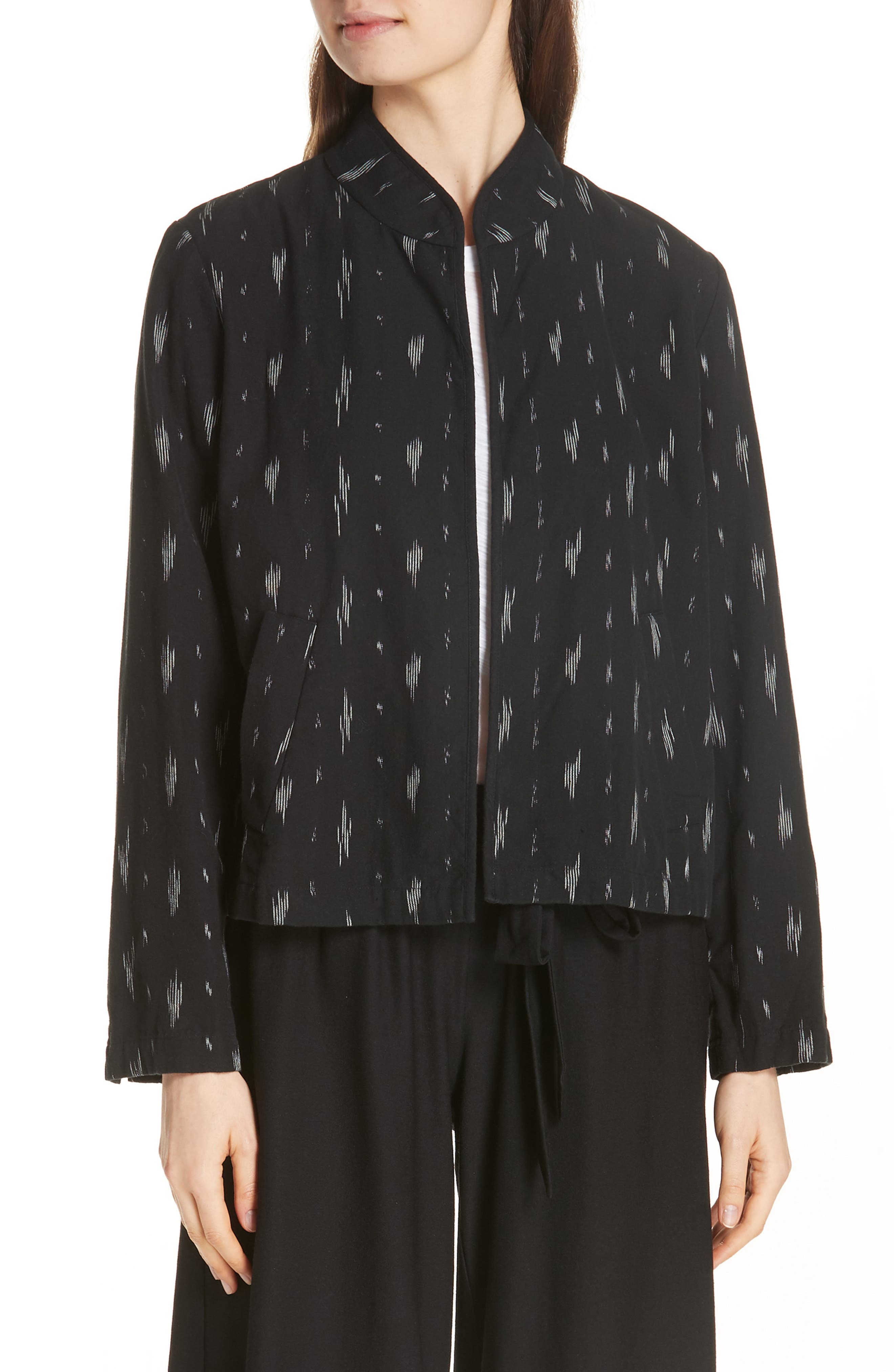 Organic Cotton Jacket,                             Main thumbnail 1, color,                             Black