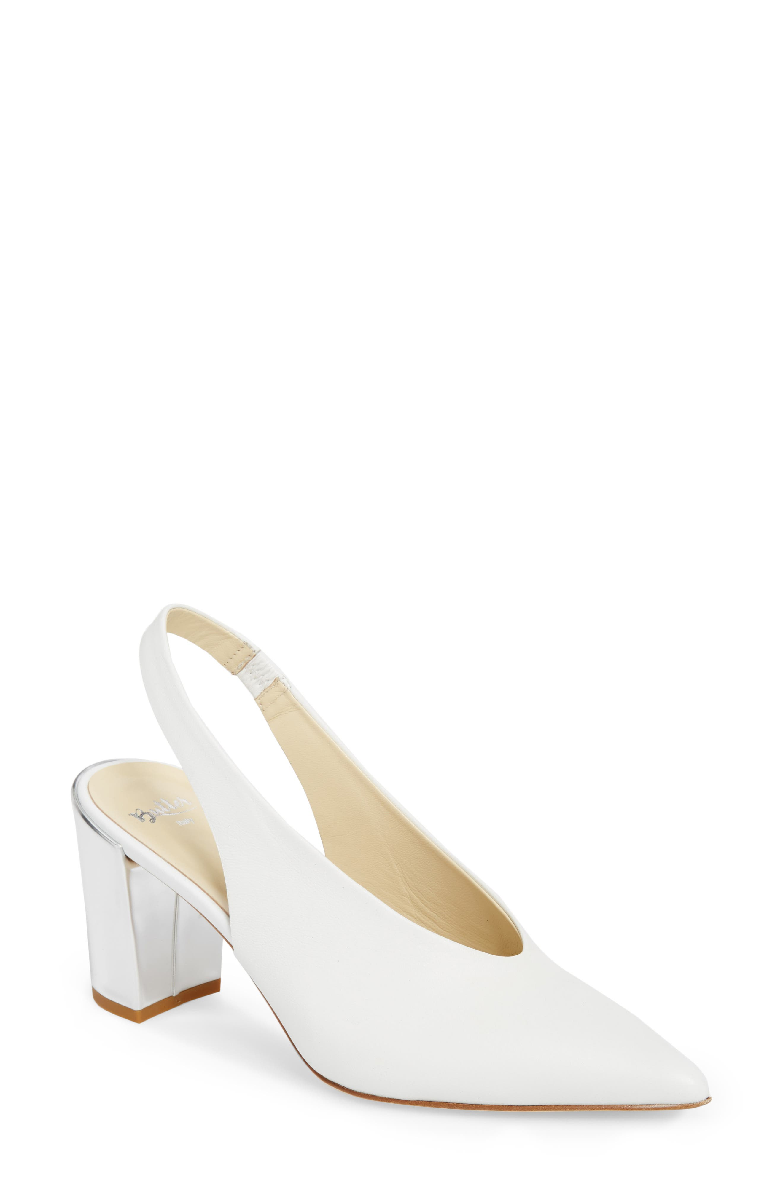 Butter Kendell Slingback Pump,                         Main,                         color, White Nappa