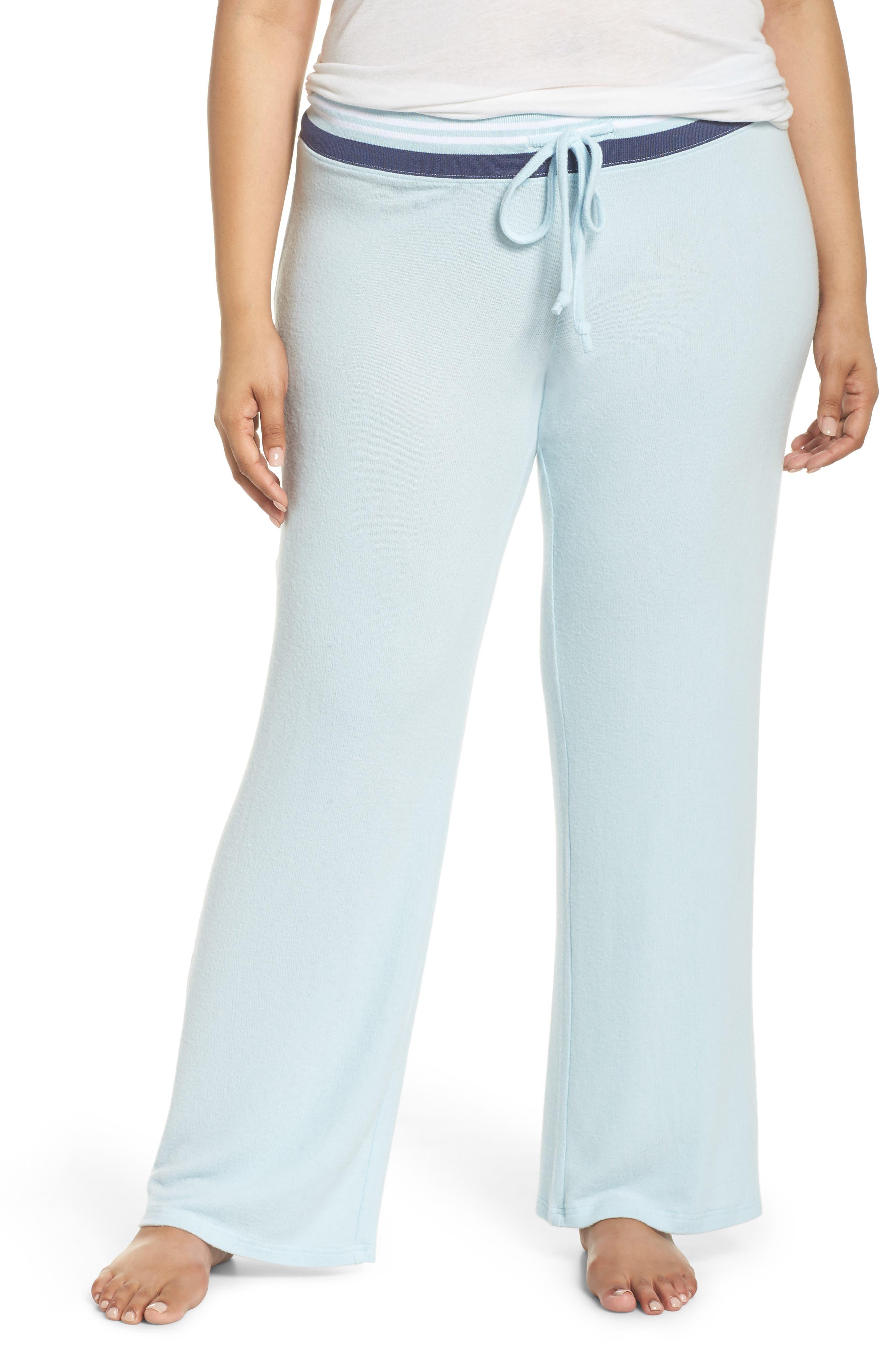 'Best Boyfriend' Brushed Hacci Lounge Pants,                             Main thumbnail 1, color,                             Blue Omphalodes
