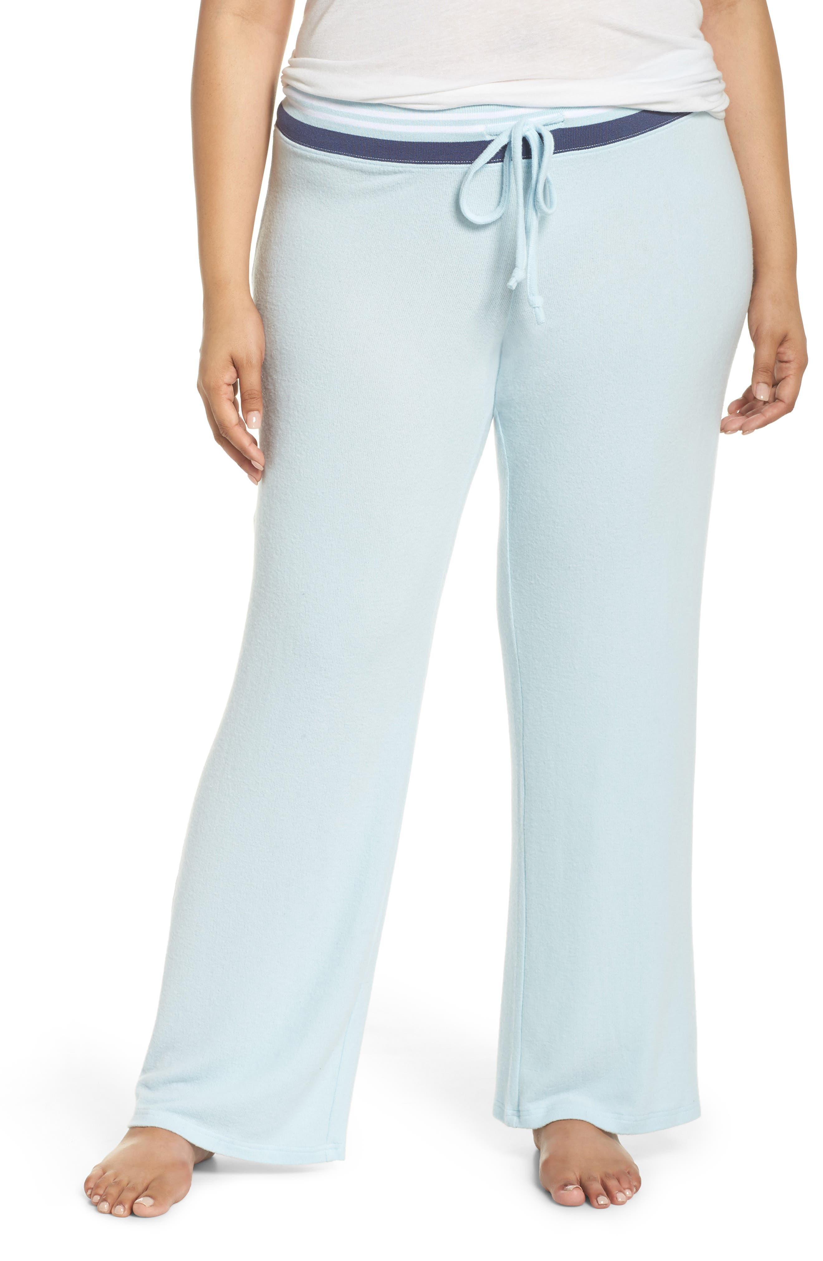 'Best Boyfriend' Brushed Hacci Lounge Pants,                         Main,                         color, Blue Omphalodes